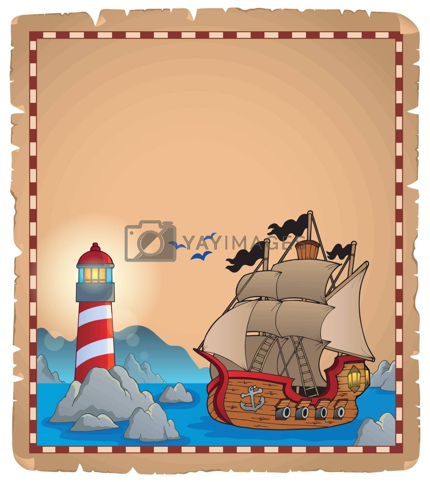 Royalty free image of Pirate theme parchment 7 by clairev