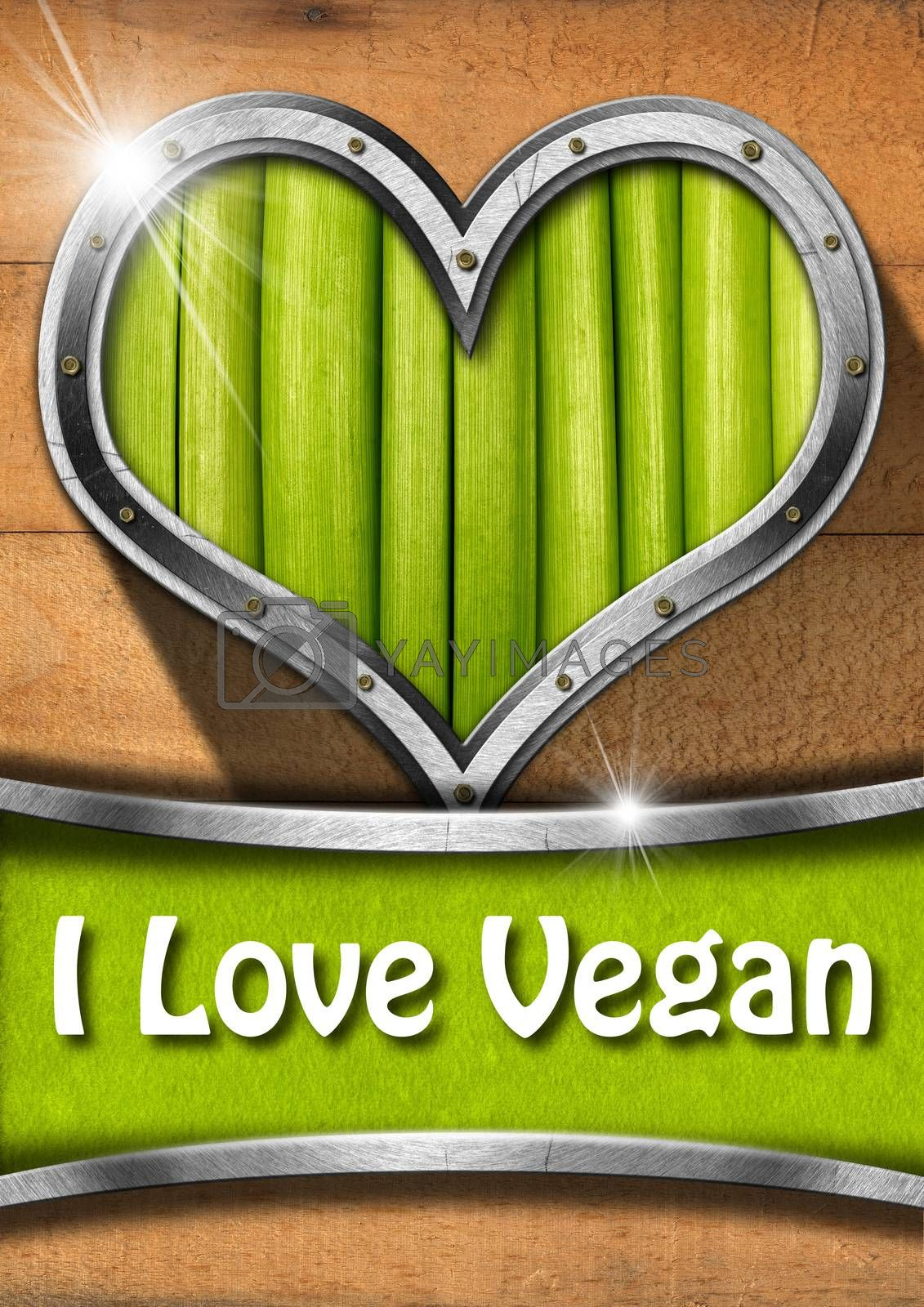 Royalty free image of I Love Vegan by catalby