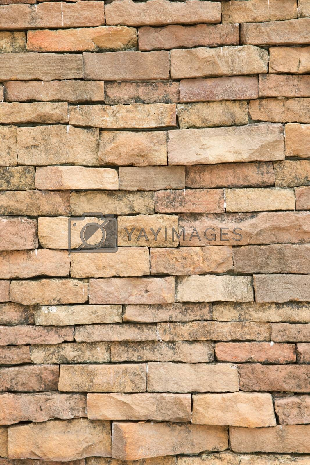 Modern stone brick wall background