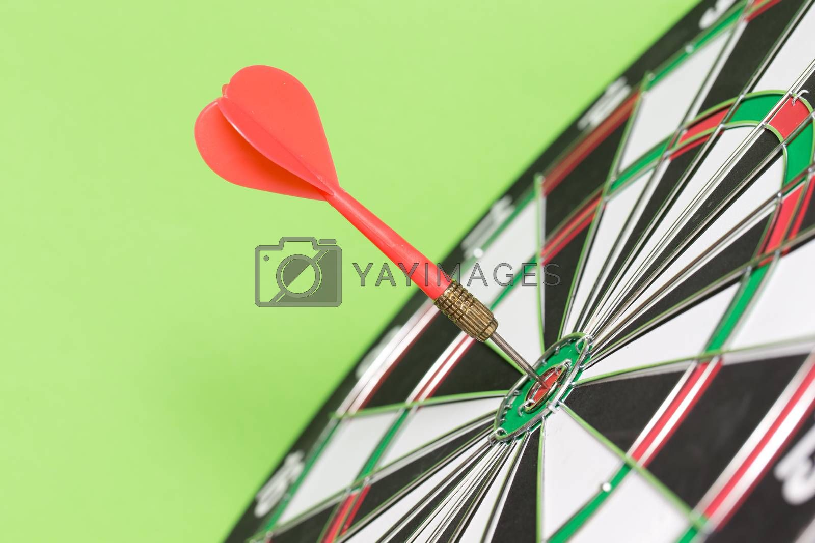 darts arrows in the target center