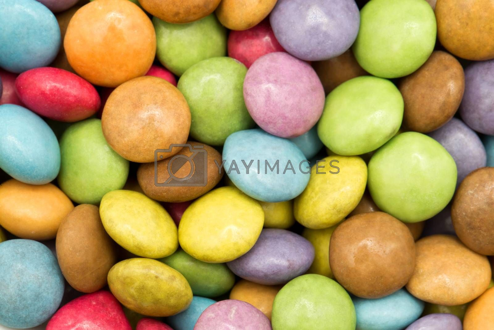 Chocolate pop colors, colored background