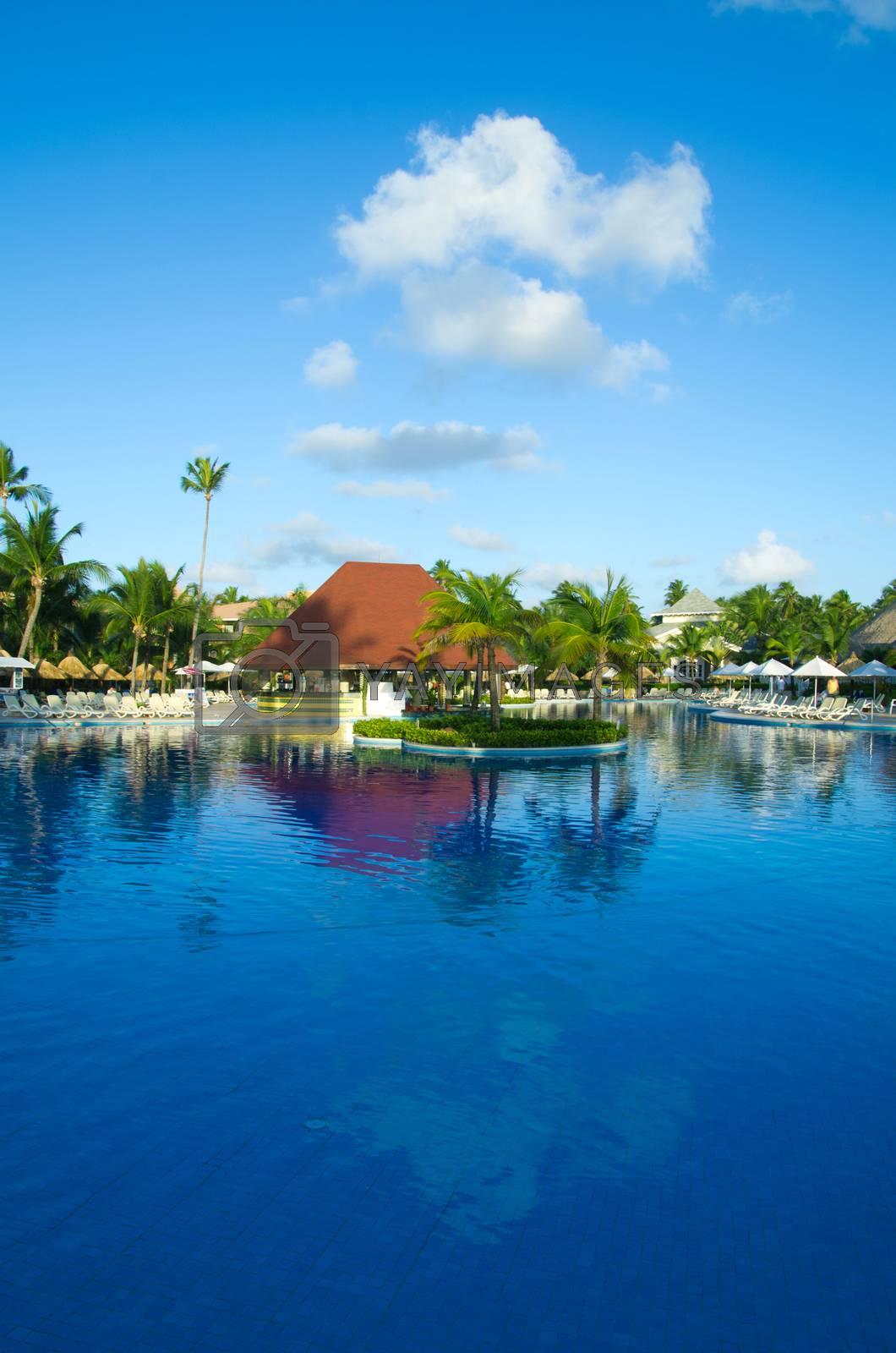 Beautiful swimming pool in Thailand