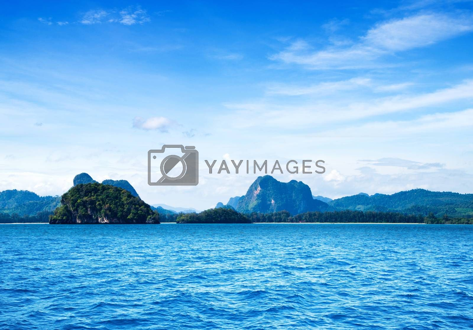 landscape of tropical island Thailand