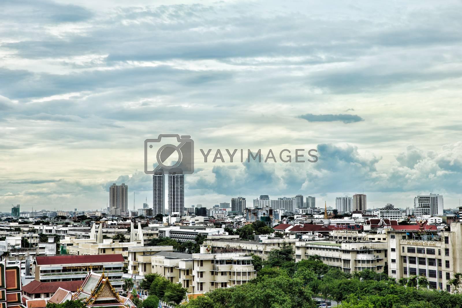 Bangkok city view from above