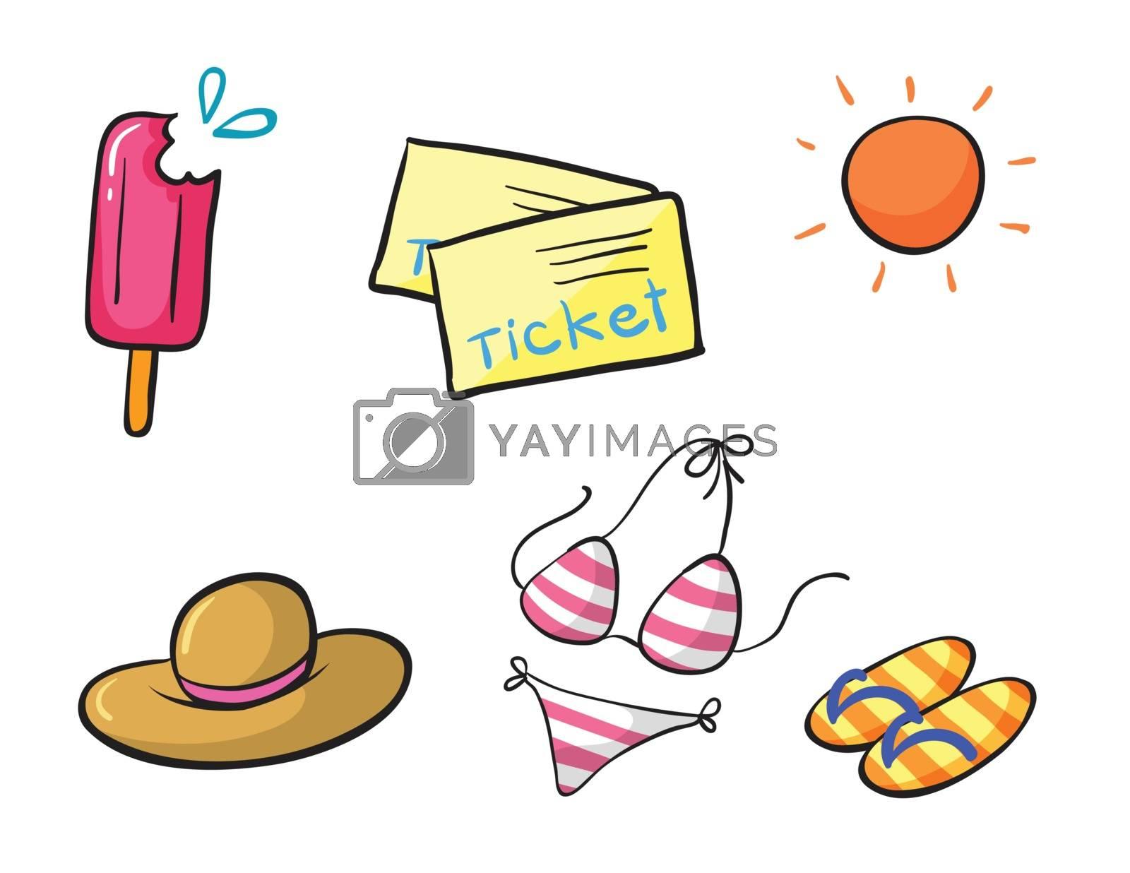 Illustration of a sun party set