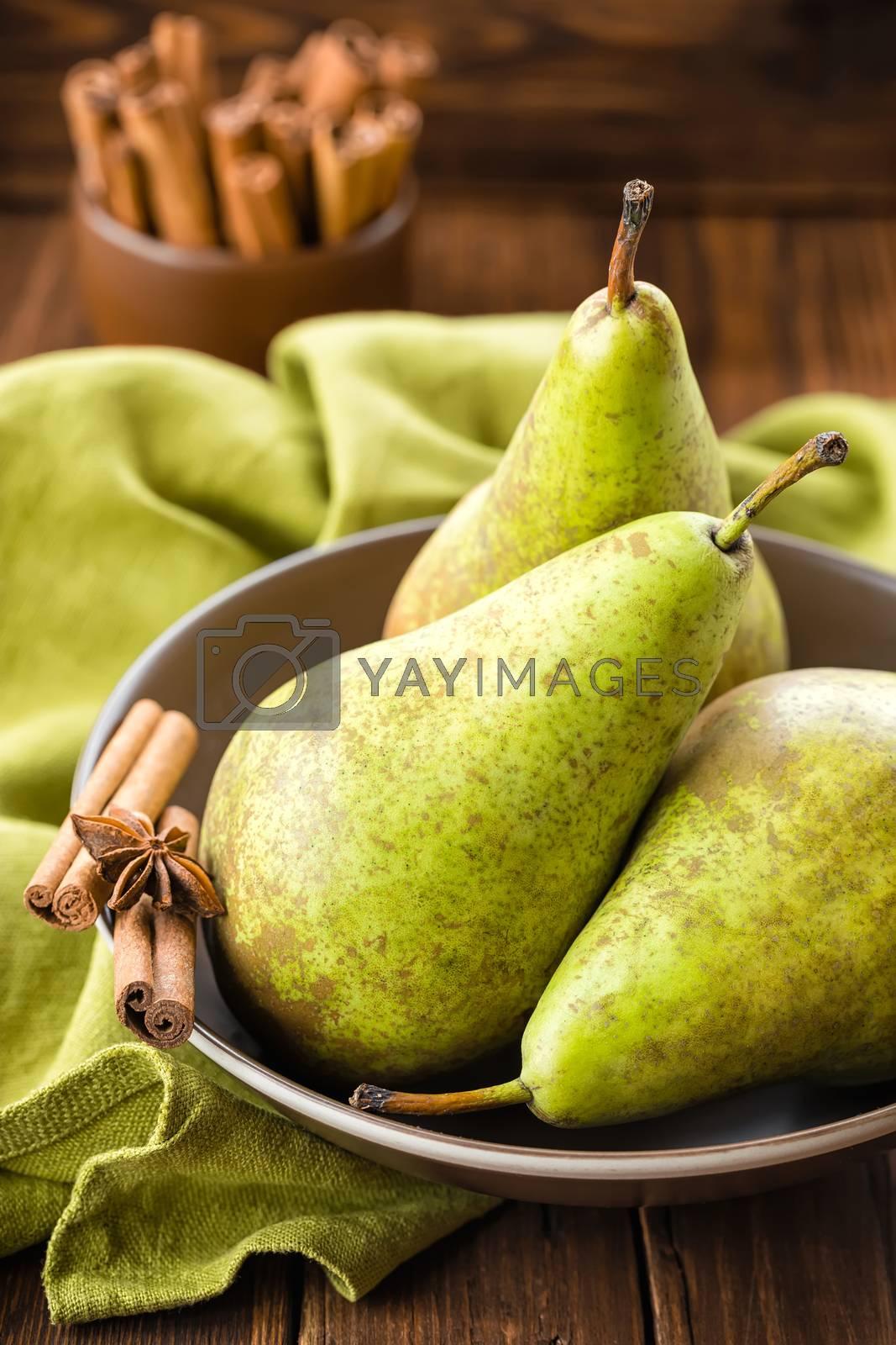 Royalty free image of Pears by yelenayemchuk