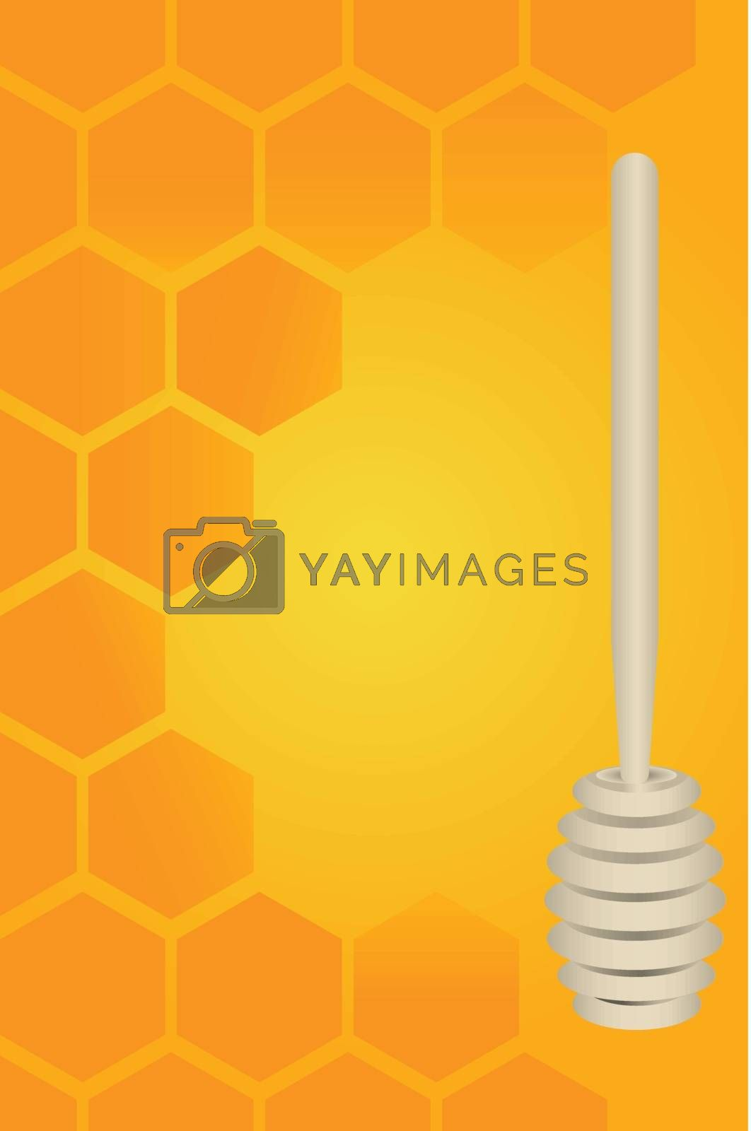 Royalty free image of Honey dipper and honeycomb by VIPDesignUSA