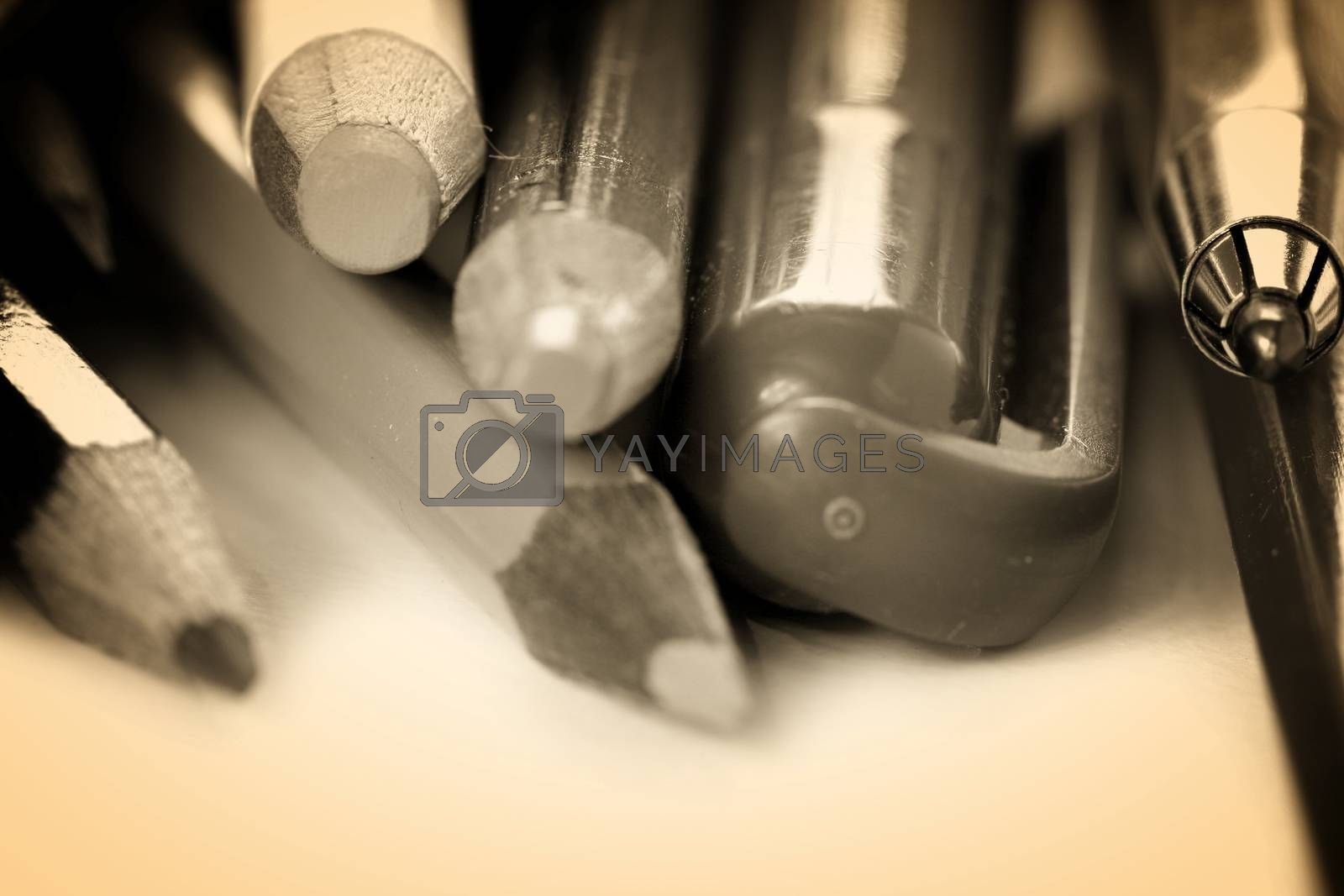 Royalty free image of Close-up pencil. by arosoft