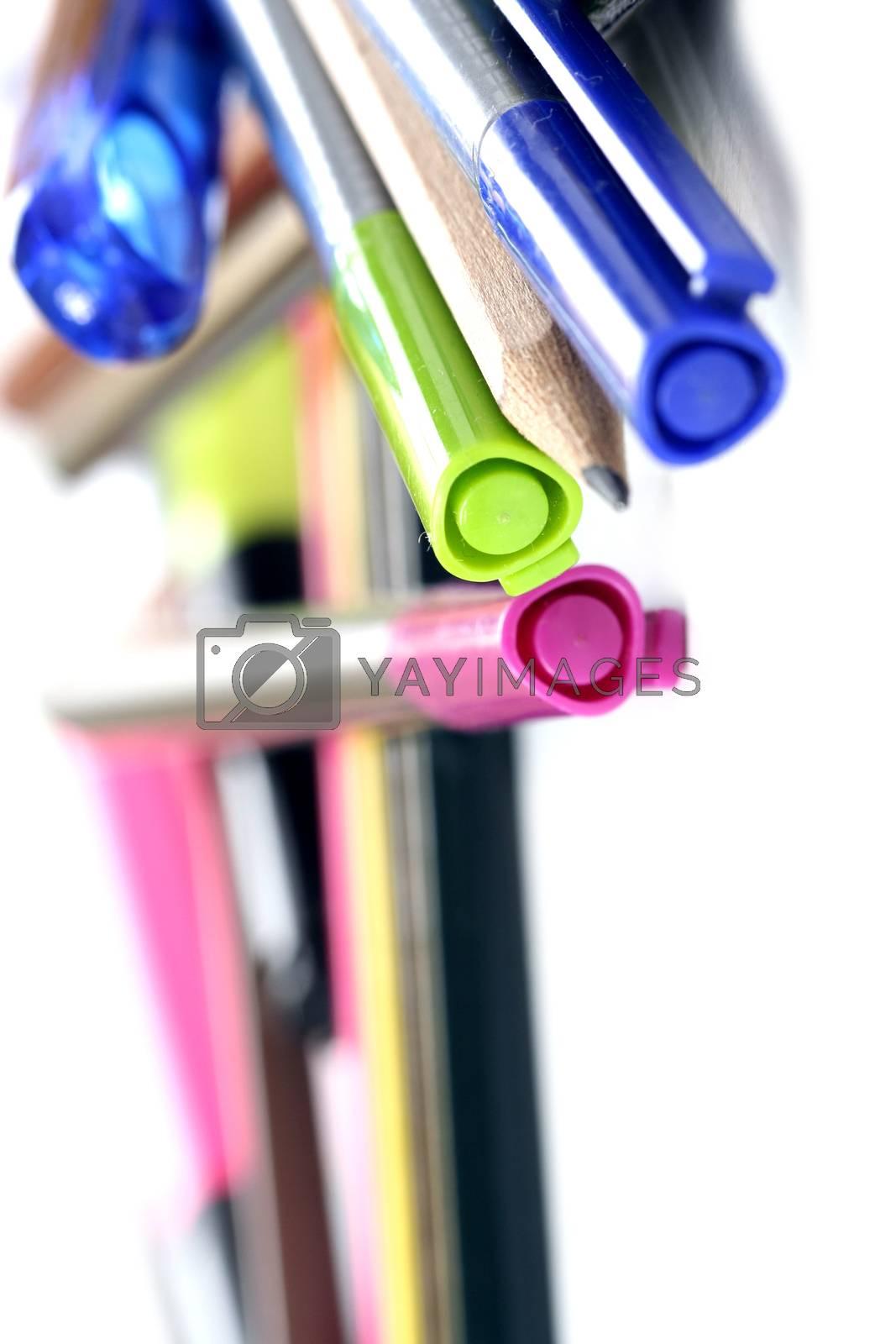 Colour pencils isolated. More on my portfolio