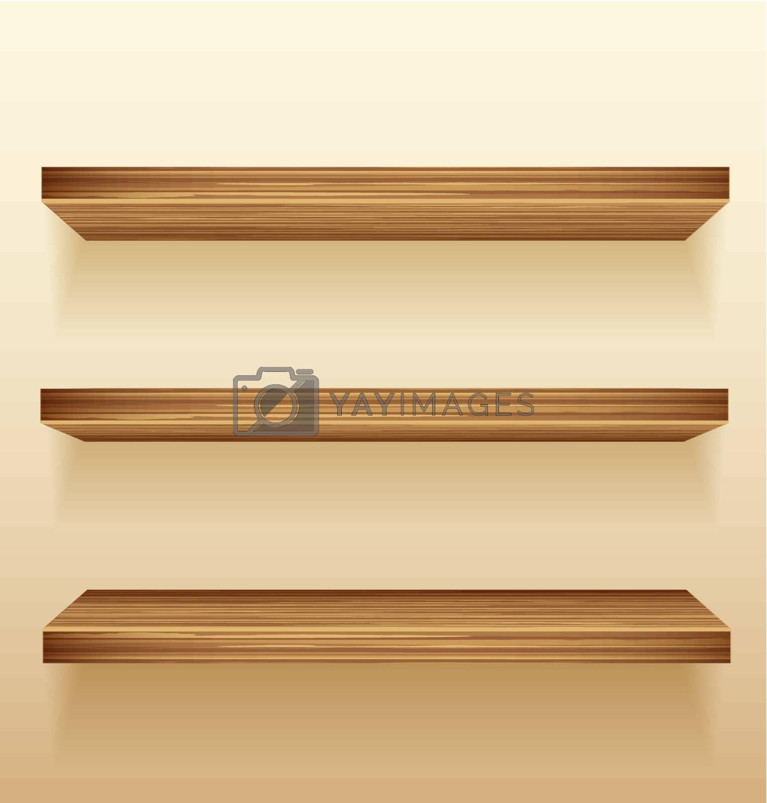 Royalty free image of shelf by odina222