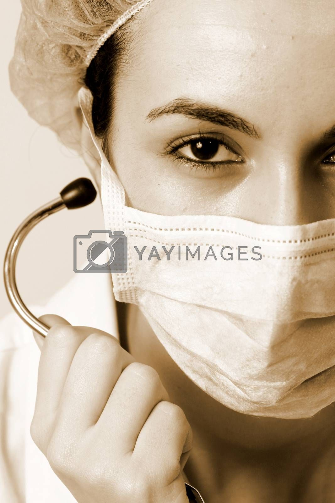 Royalty free image of Young doctor with stethoscope. by arosoft