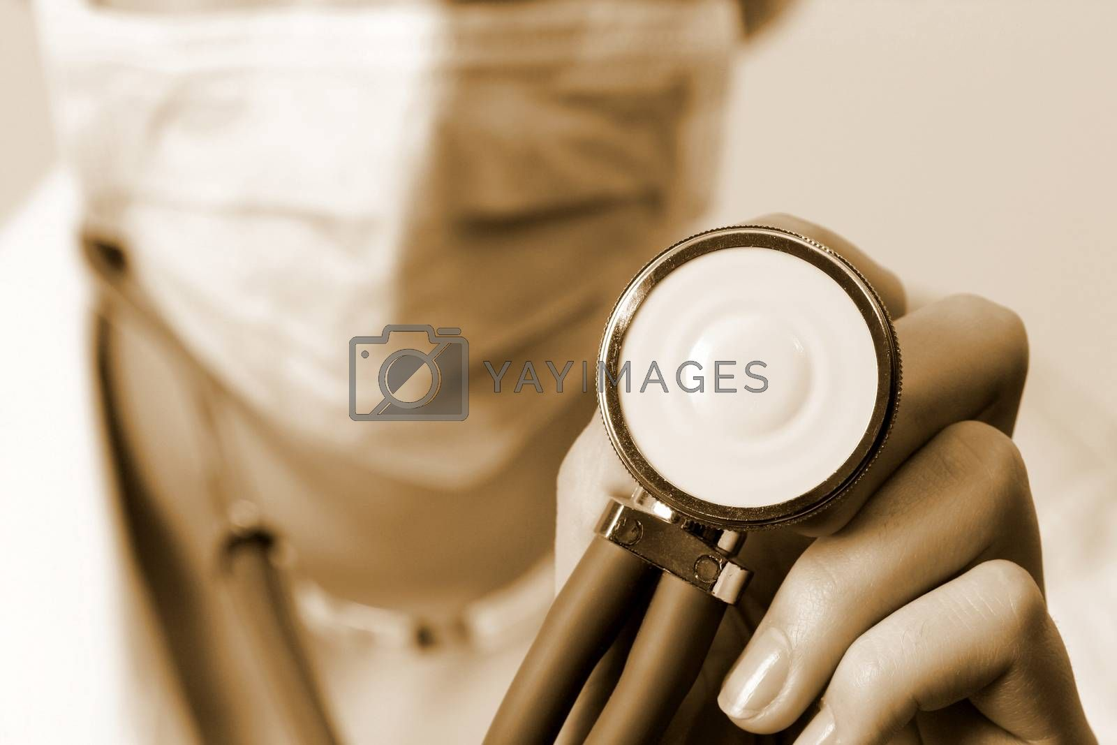 Professional young doctor at work. Close up.