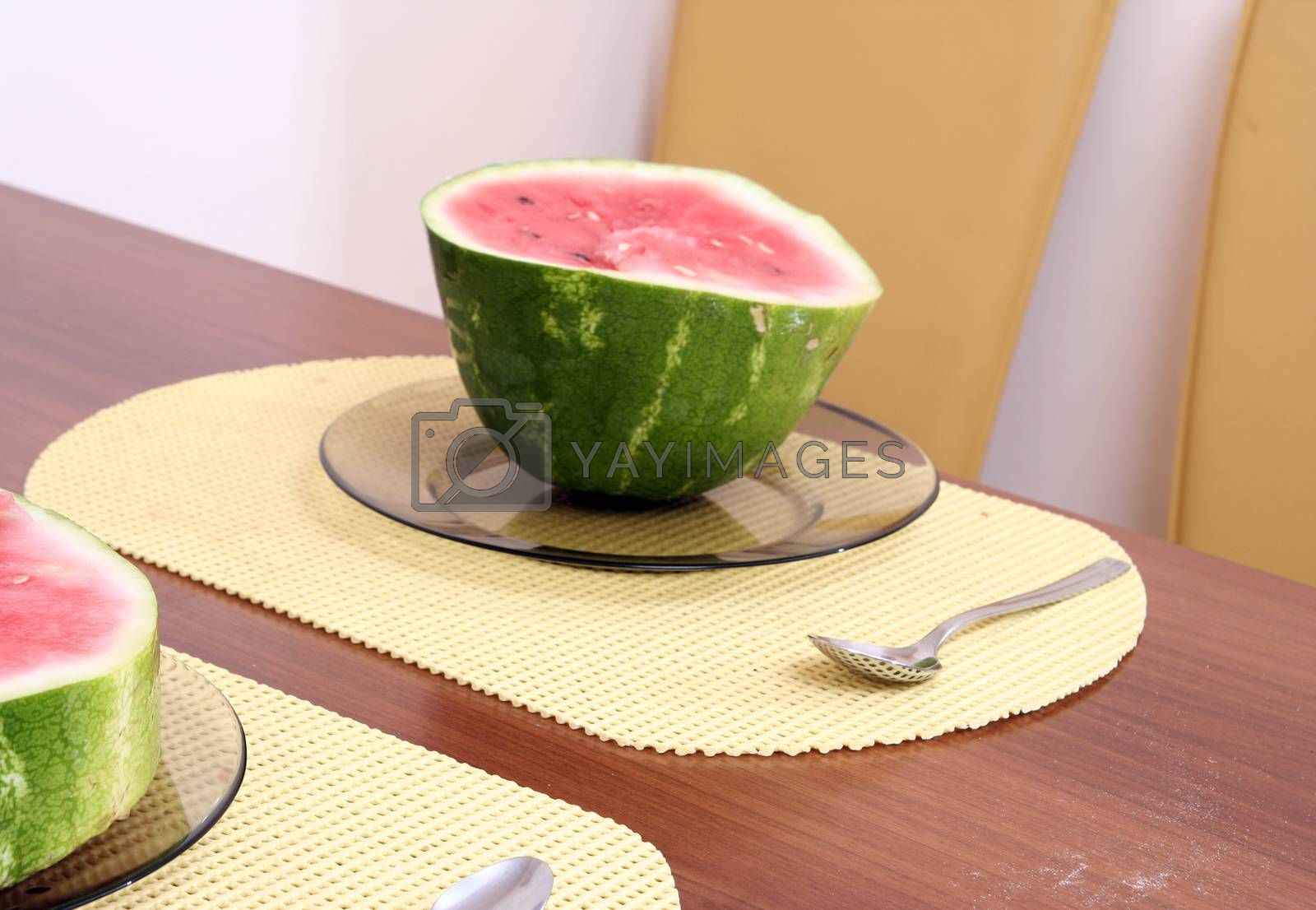 A slice of juicy water melon