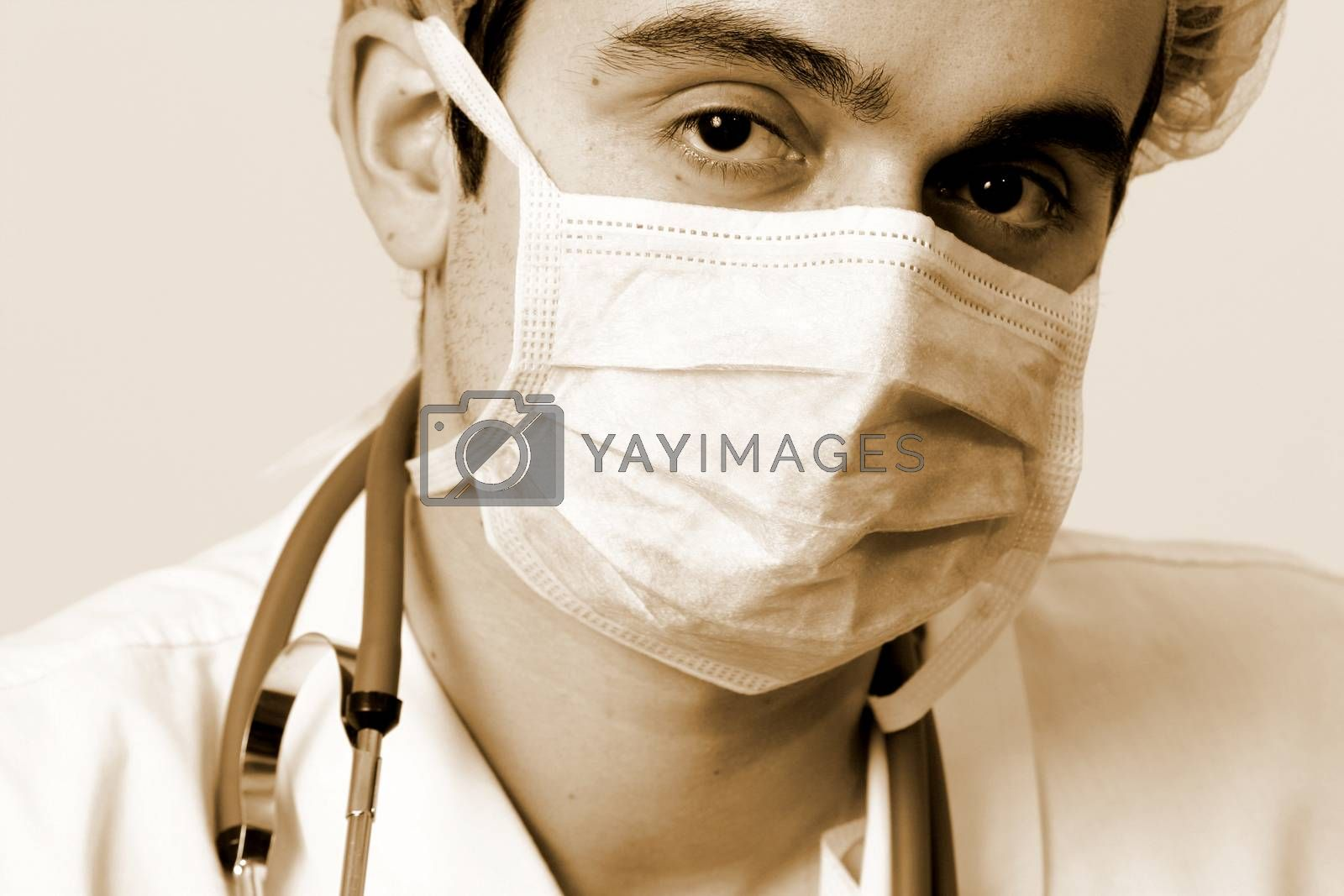 Professional young doctor at work.