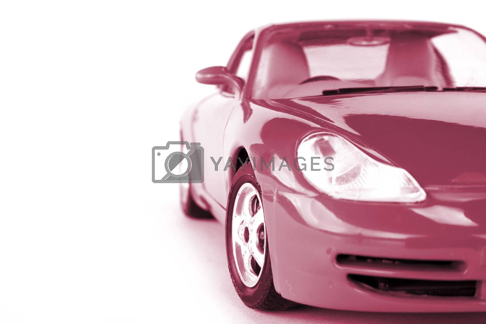 Car view from the front isolated on white.