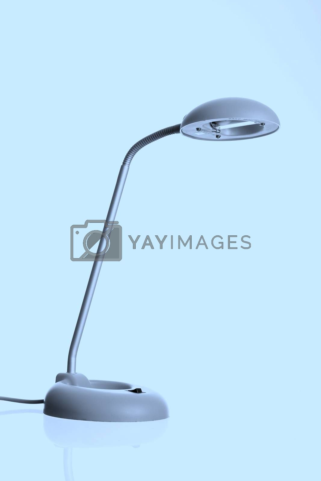 Closeup picture of a lamp.