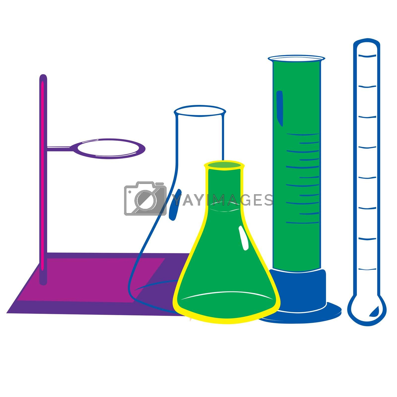 Royalty free image of Illustration of Laboratory equipment by tharun15