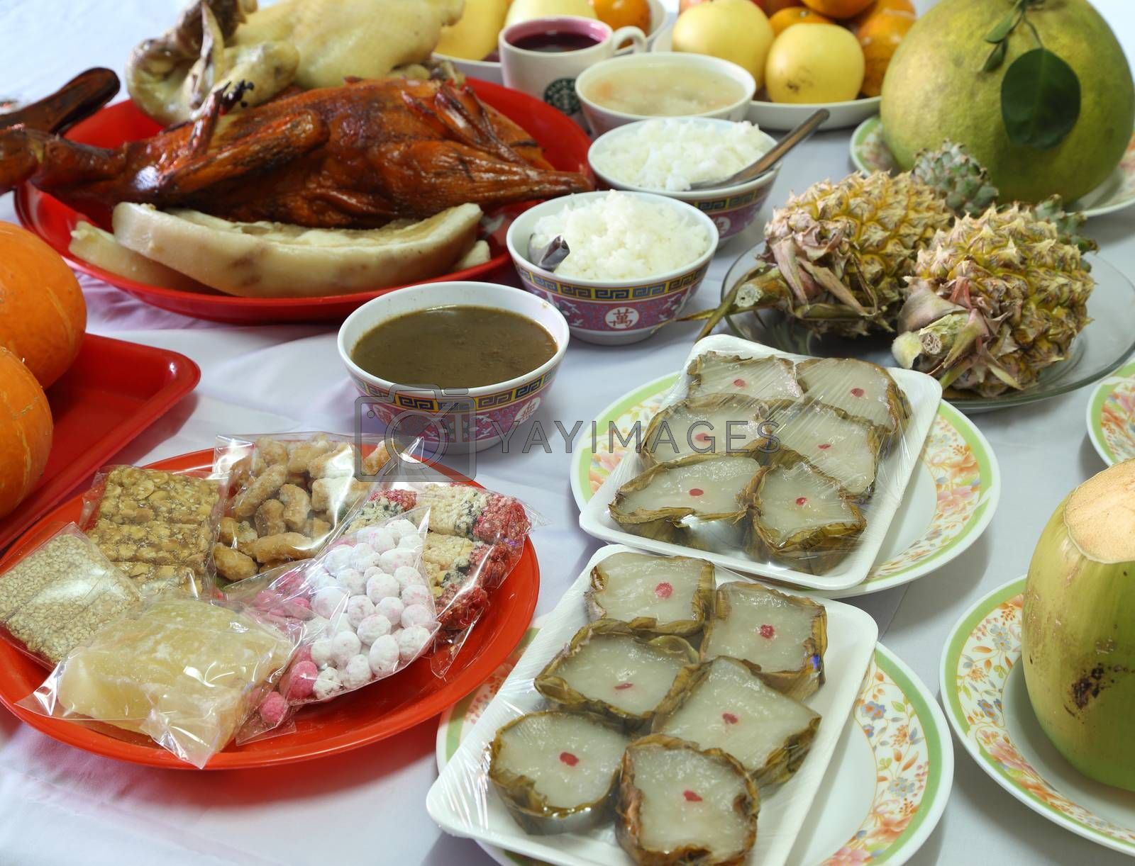 Royalty free image of various food for Chinese New Year culture by geargodz