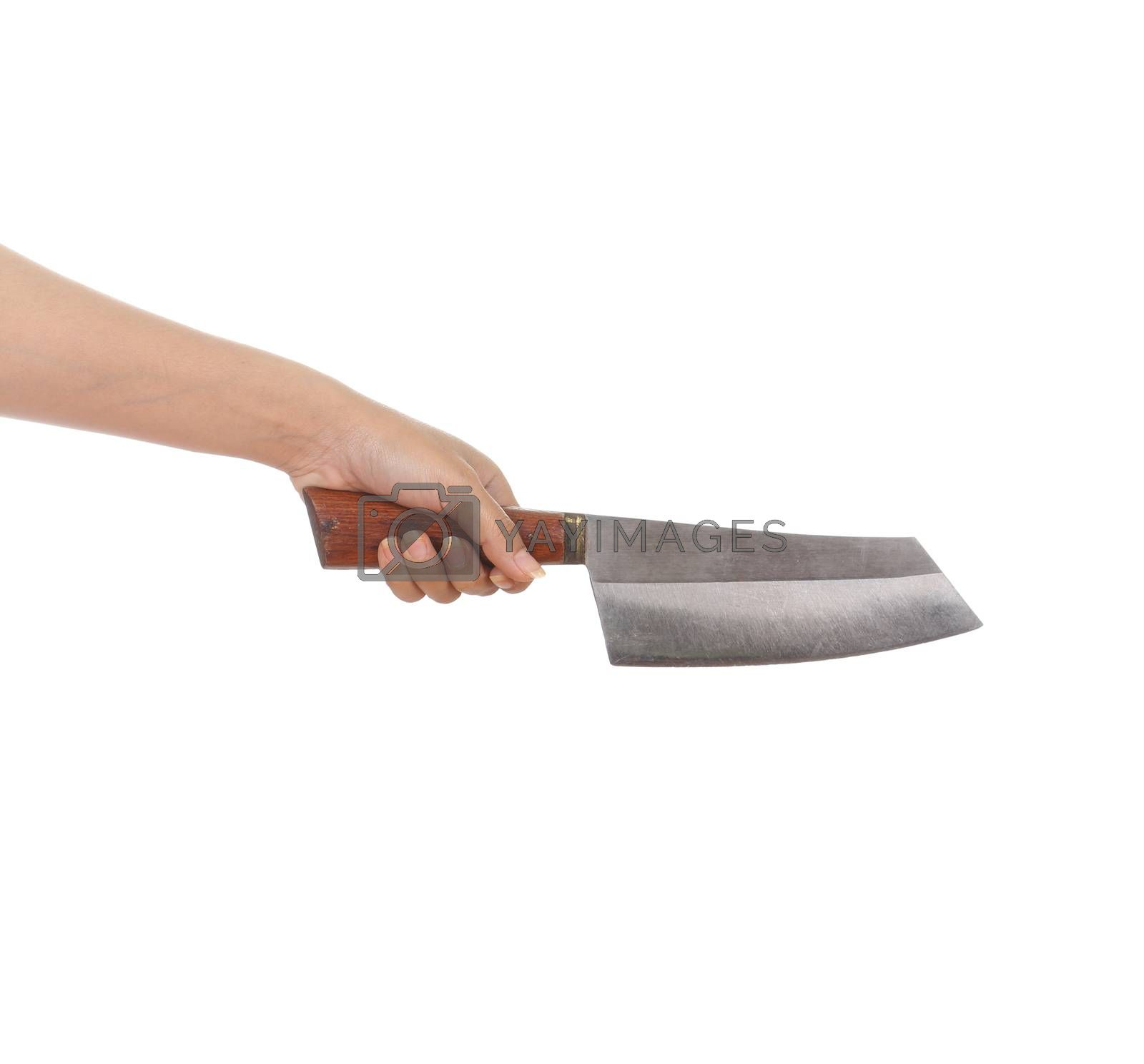 Royalty free image of knife in a hand by geargodz