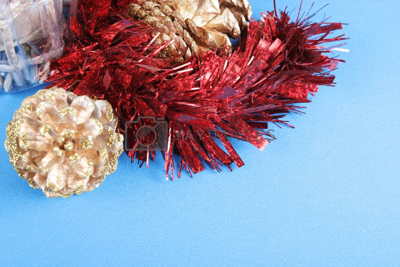 Close-up picture of christmas garland