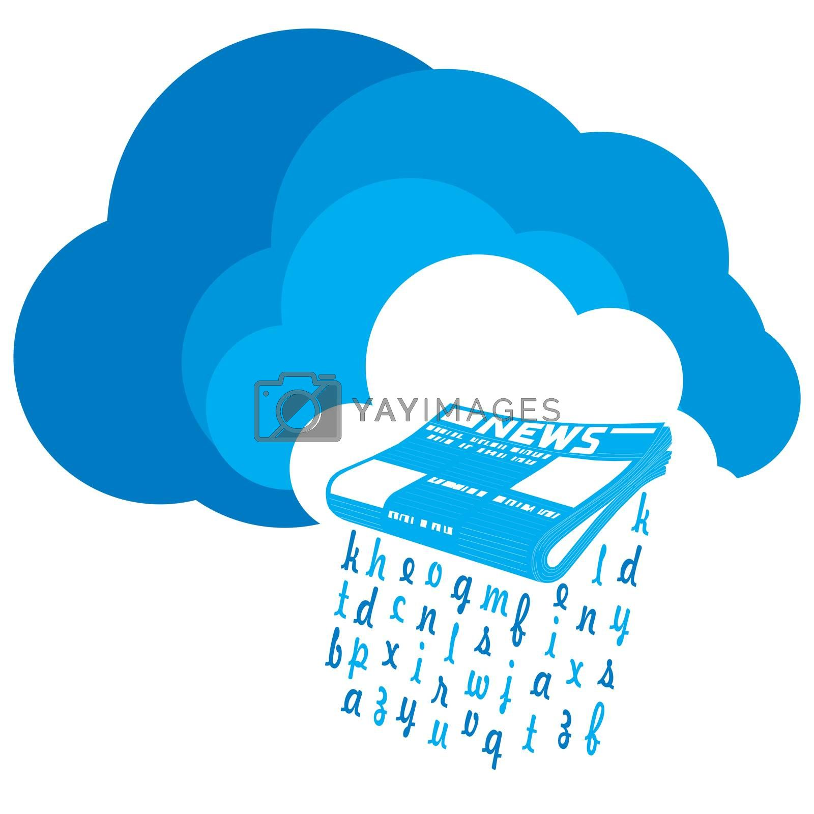 Royalty free image of News from the Cloud by tharun15