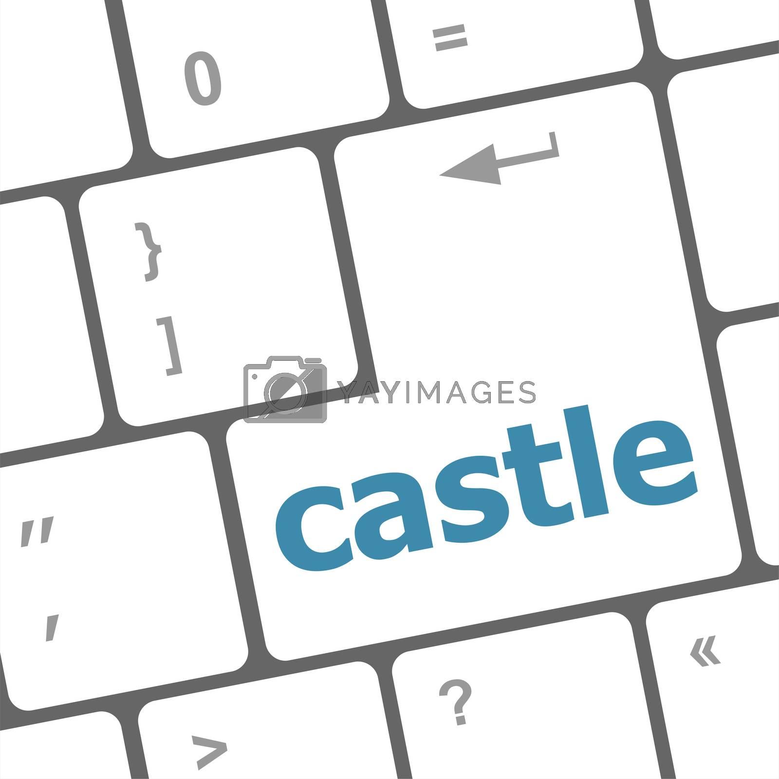 Modern computer keyboards enter keys with castle word