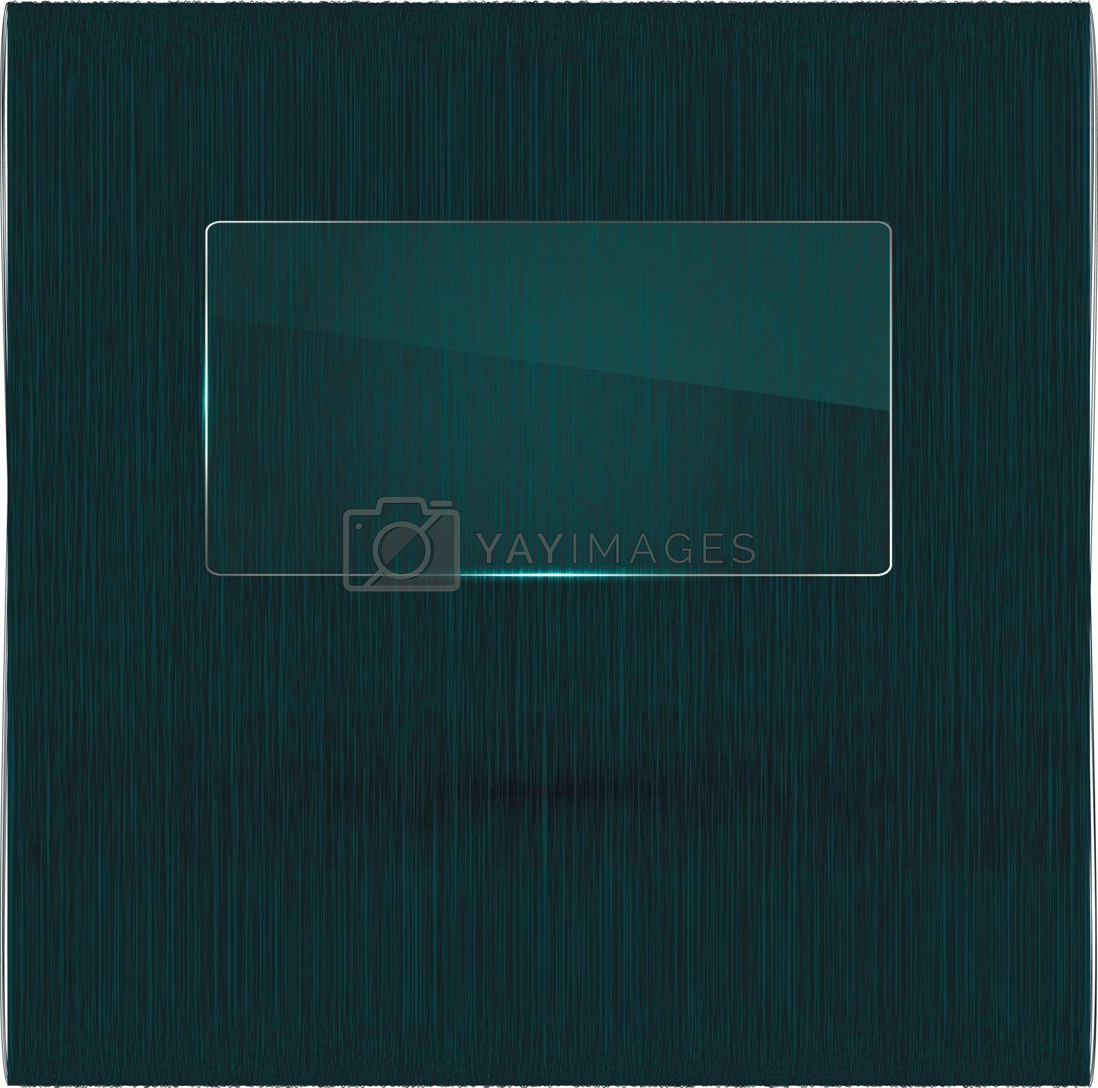 Vector illustration of a glass banner