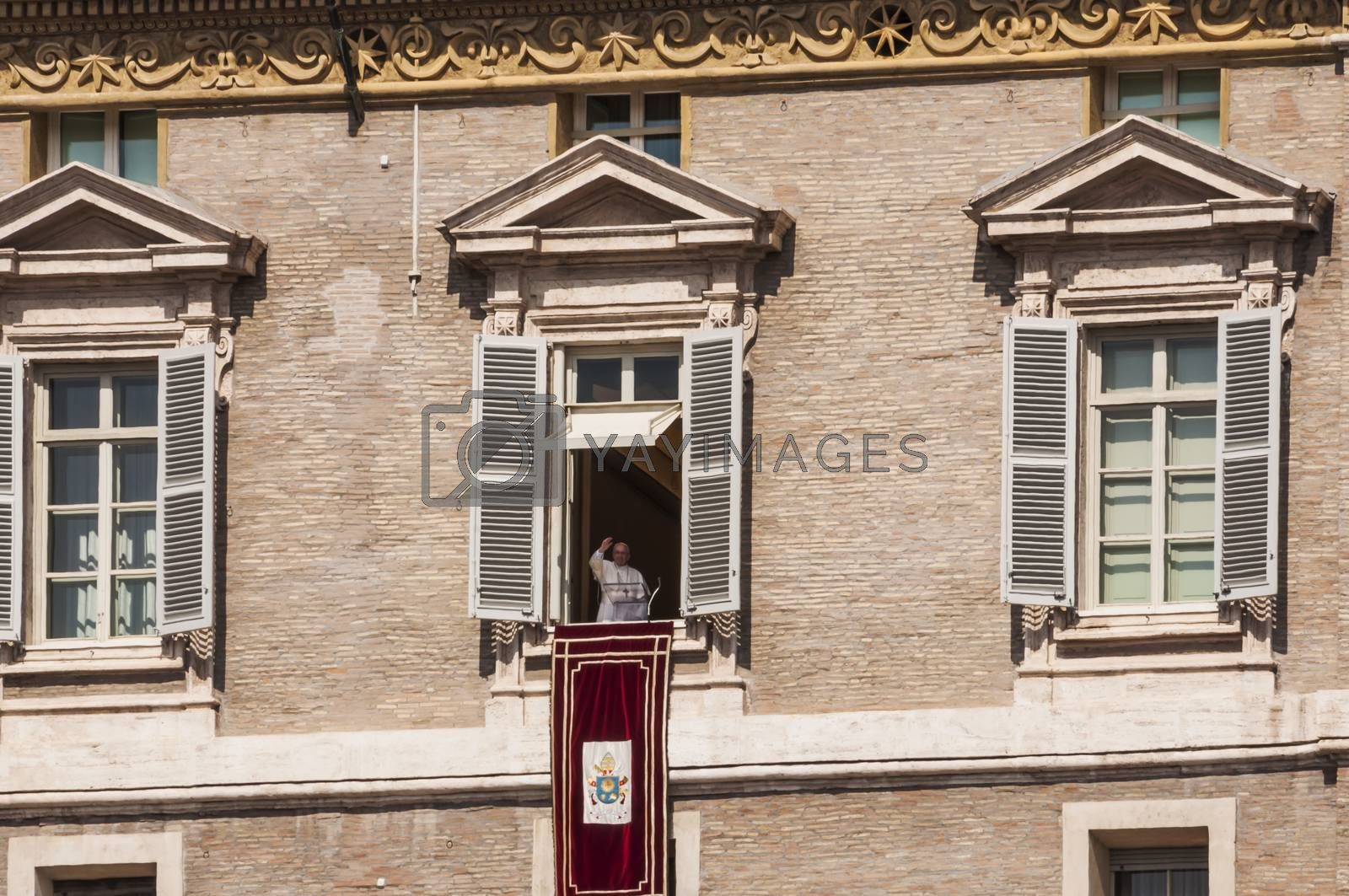 VATICAN CITY - MARCH 30: sunday Angelus made by Pope Francis on March 30, 2014 in Vatican City