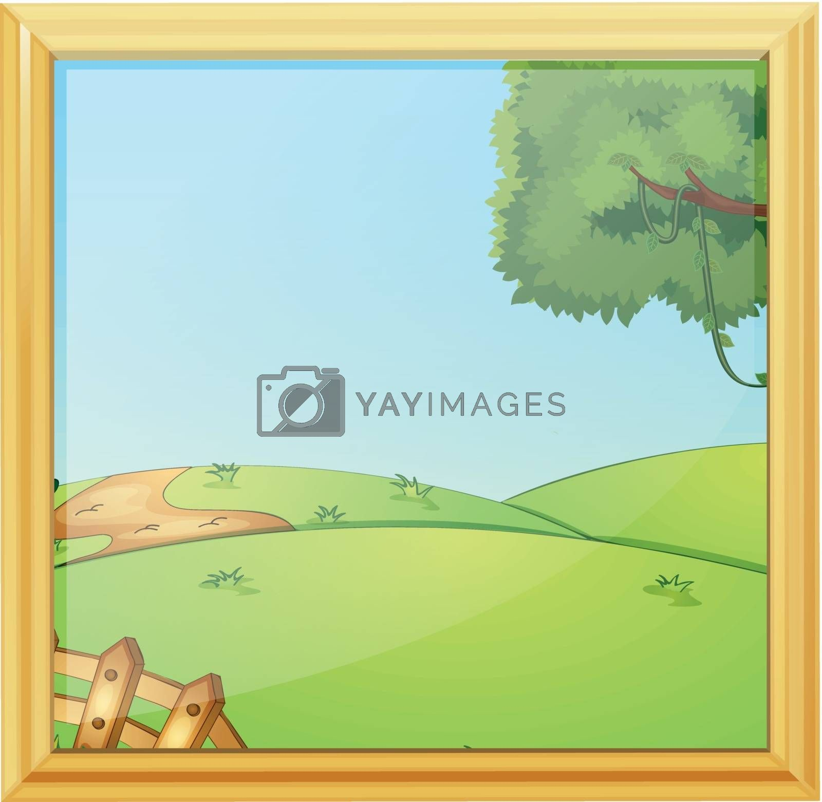 A beautiful landscape photo frame by iimages