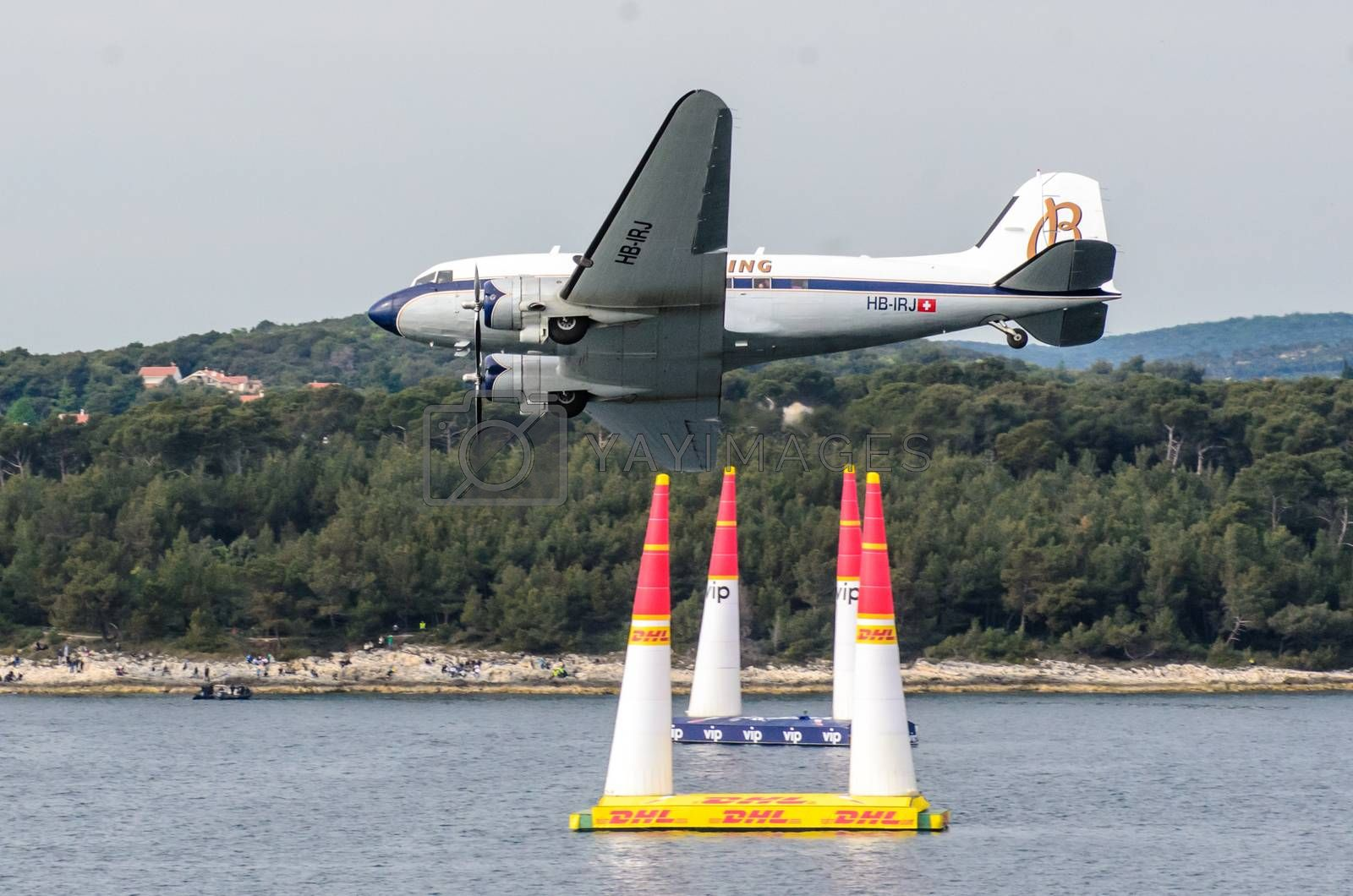 ROVINJ, CROATIA - APRIL 13 2014 exibition airplanes at Red Bull  by vepar5