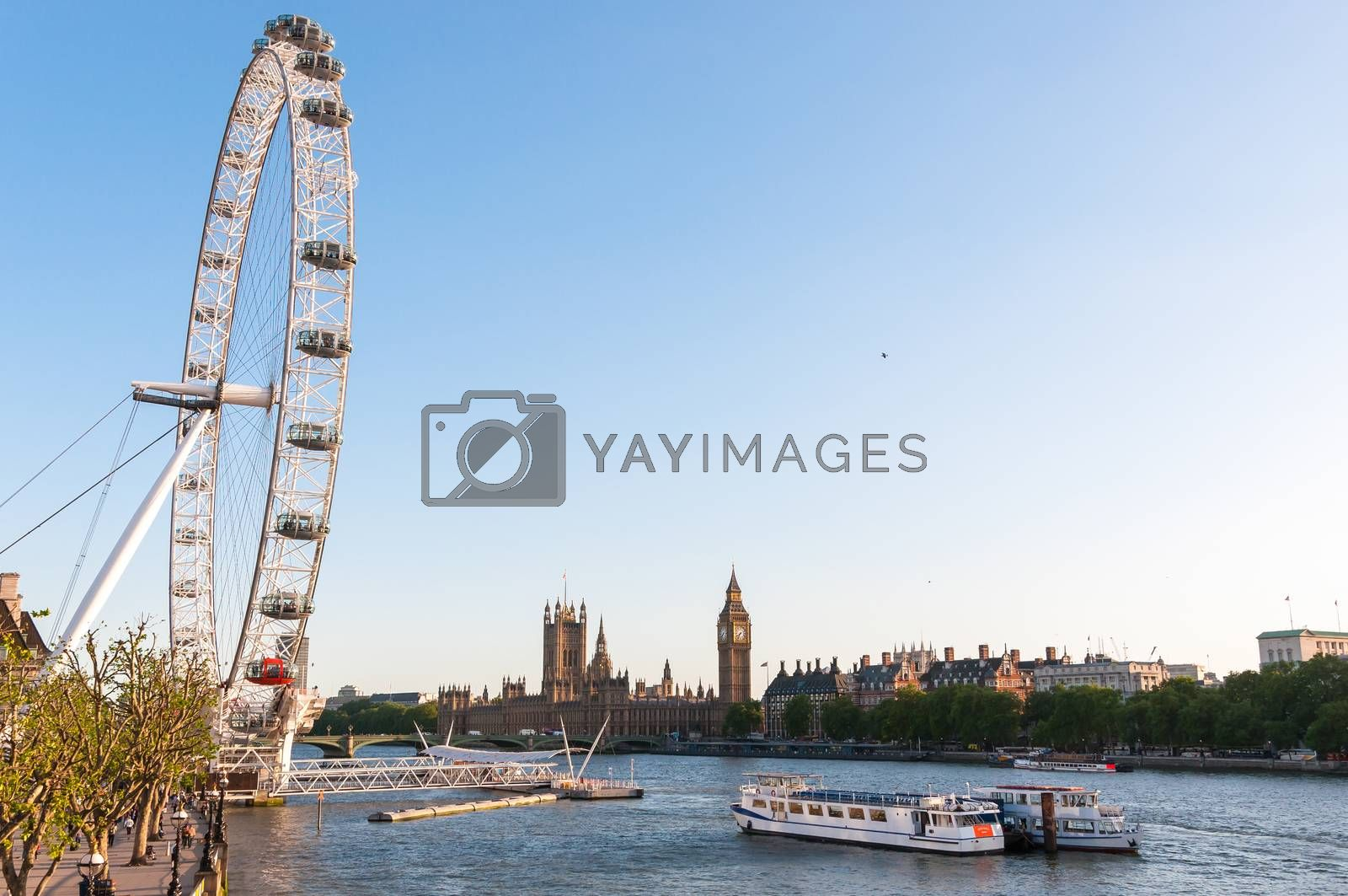 London Eye and Houses of Parliament by mkos83
