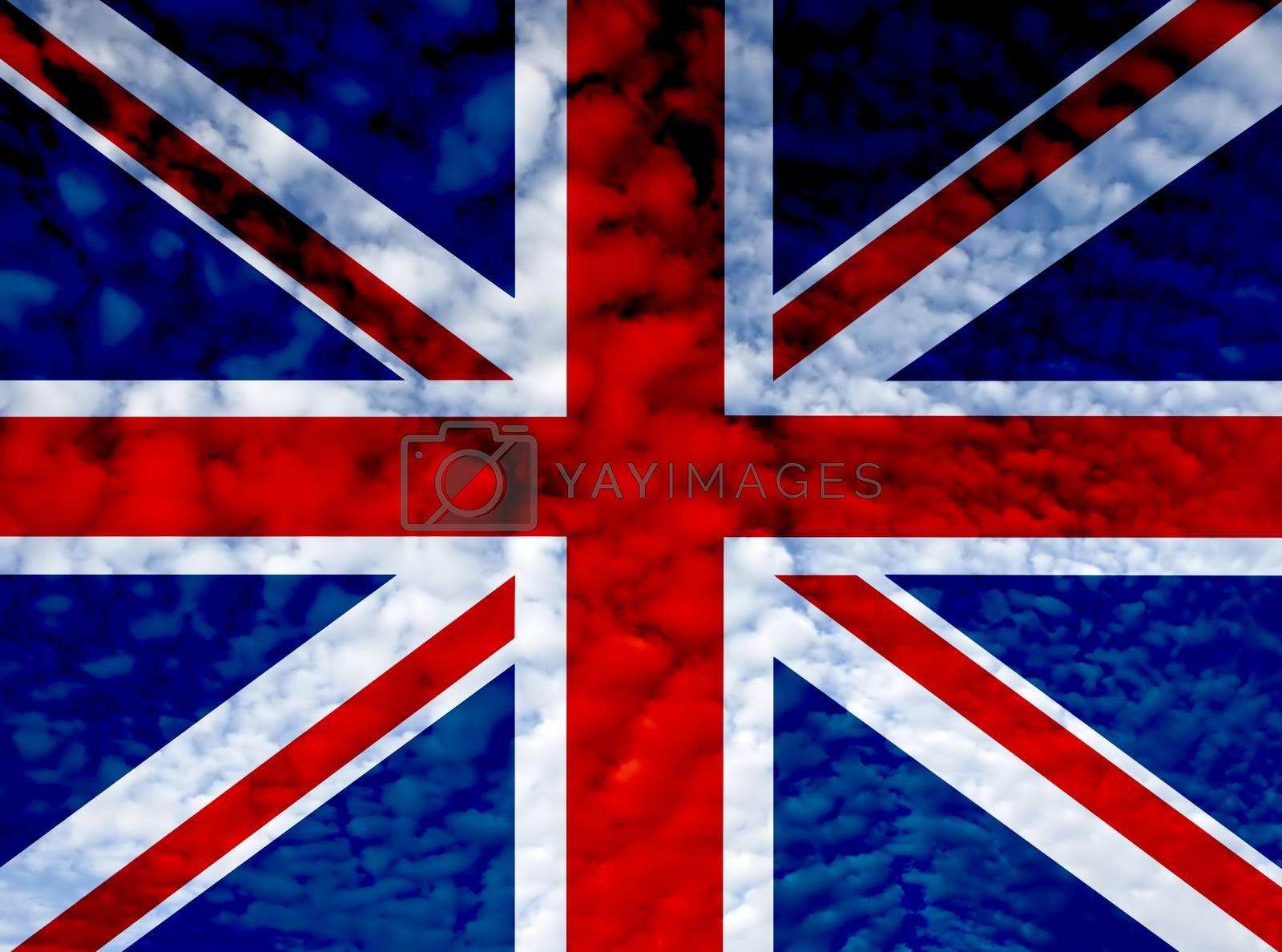 united kingdom england flag ilustration, computer generated