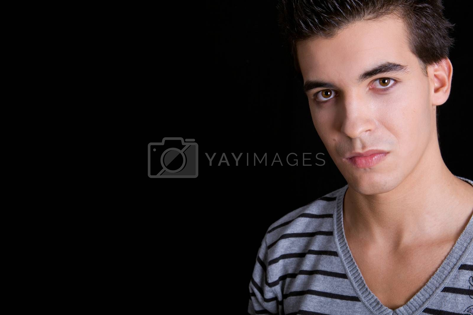 young casual man portrait, studio picture
