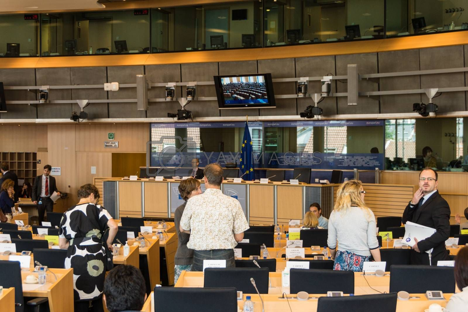 Inside the European Parliament by bjoernd