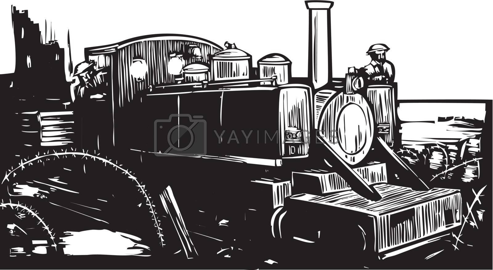 WWI Train by Xochicalco