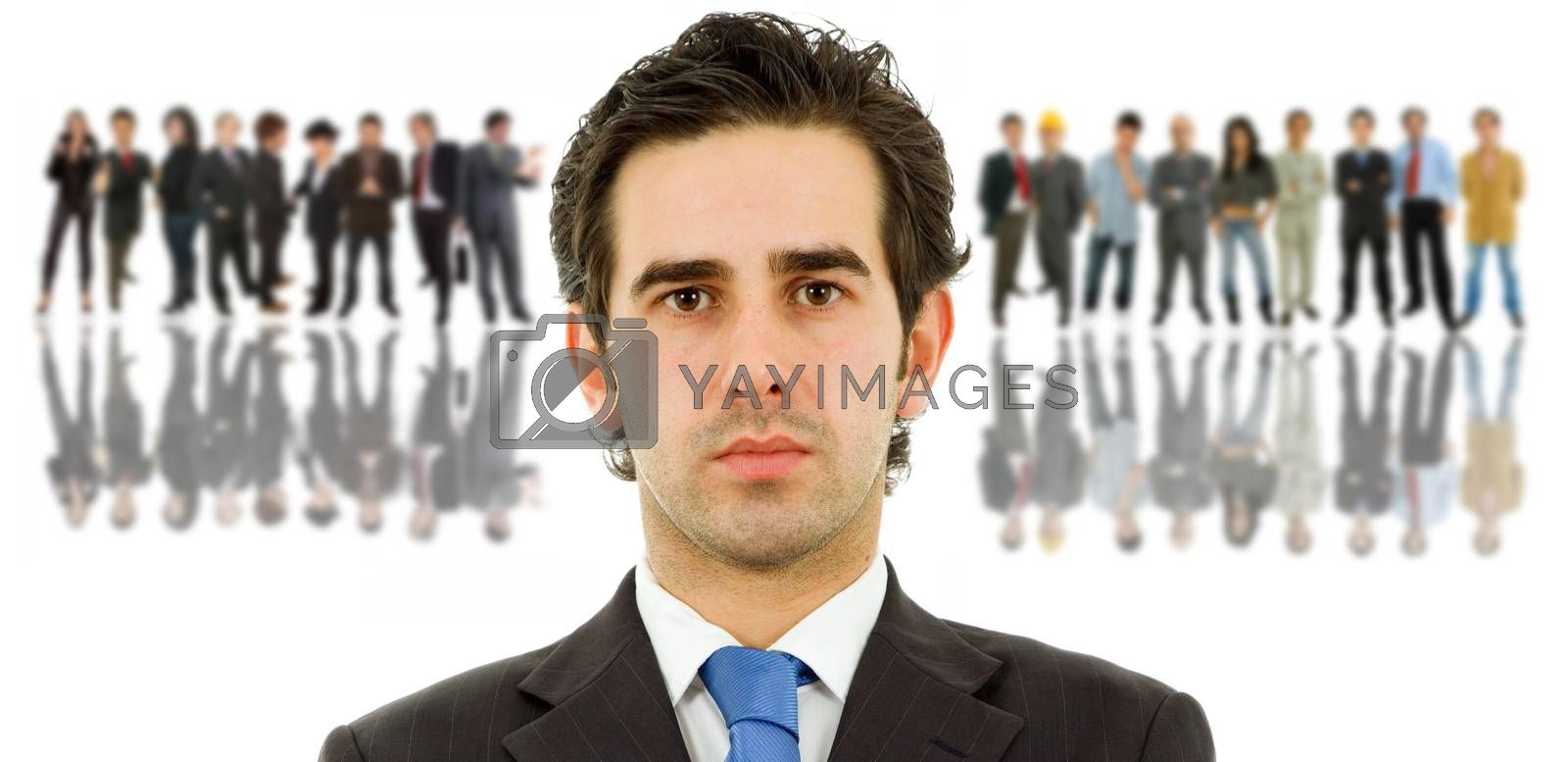 young business man with some people on the back