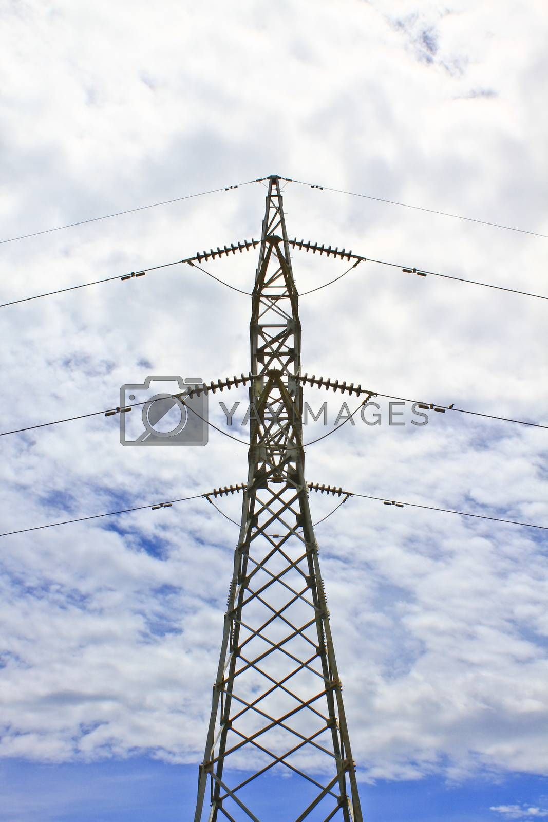 Royalty free image of High voltage tower by forest71