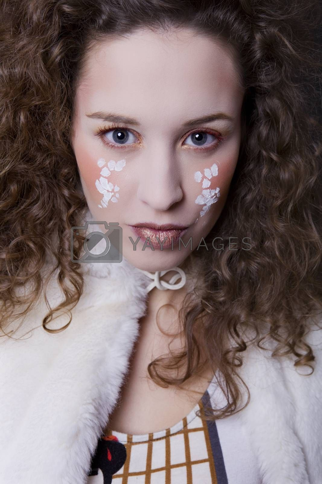Royalty free image of painted face by zittto