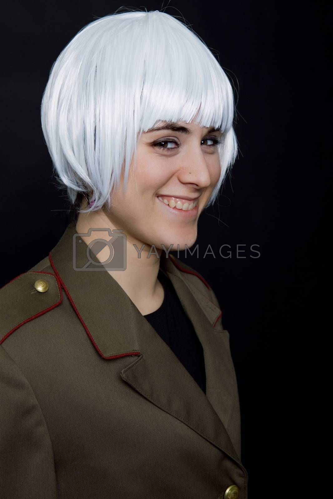 Royalty free image of white wig by zittto