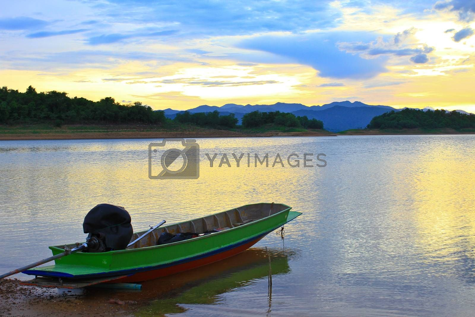 Royalty free image of boat and sunset by forest71