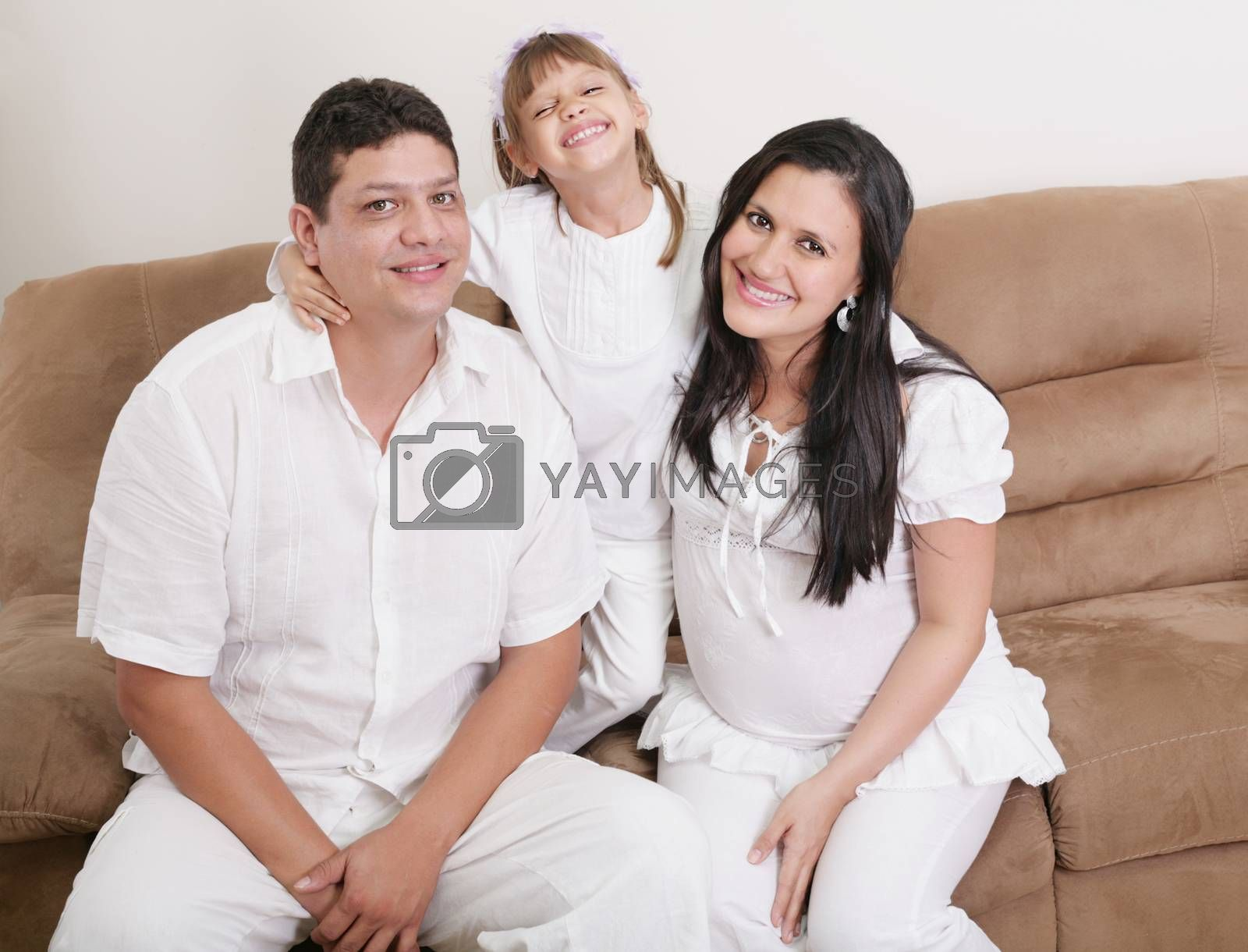 Royalty free image of Portrait of a happy hispanic family by dacasdo
