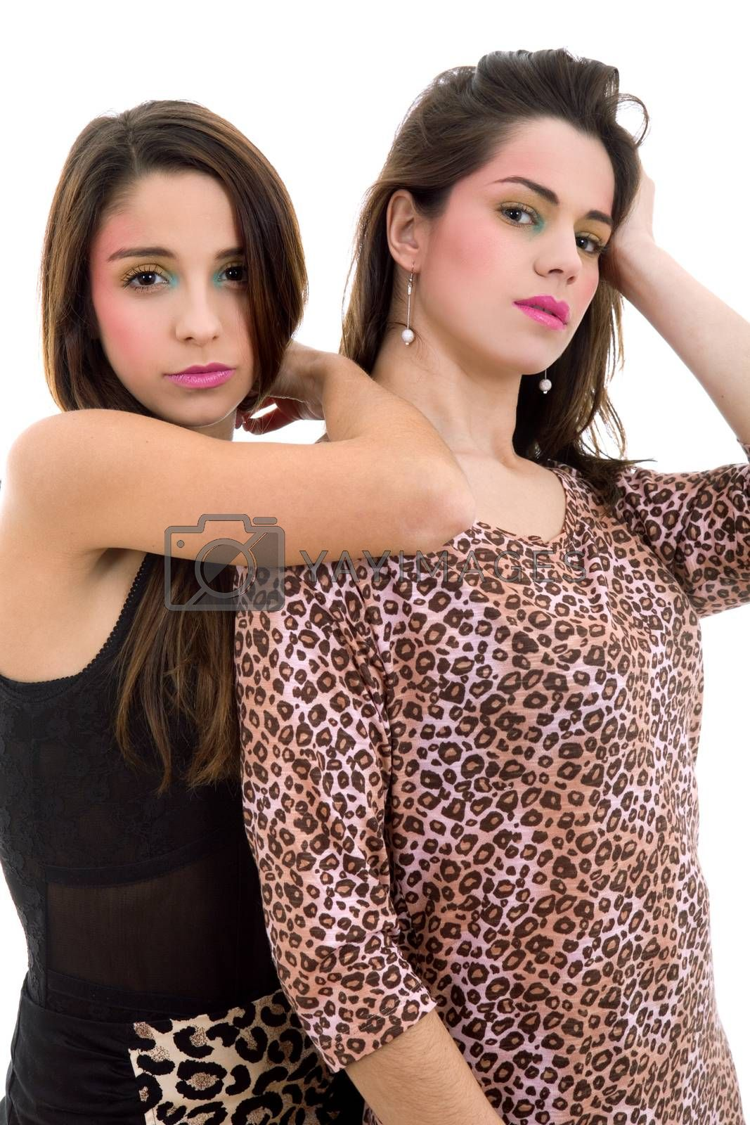 Royalty free image of young girls by zittto