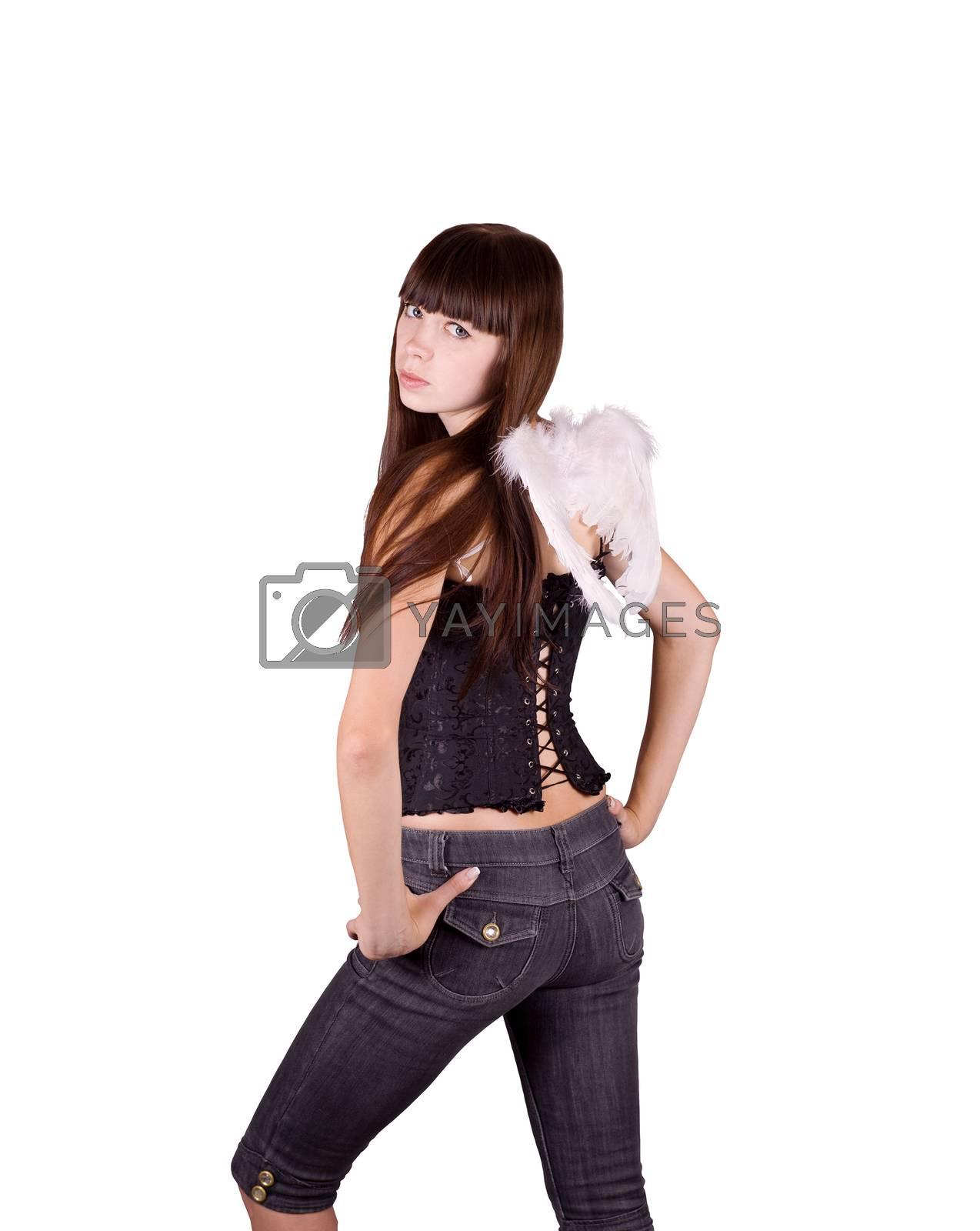Royalty free image of Girl-angel by Krakatuk