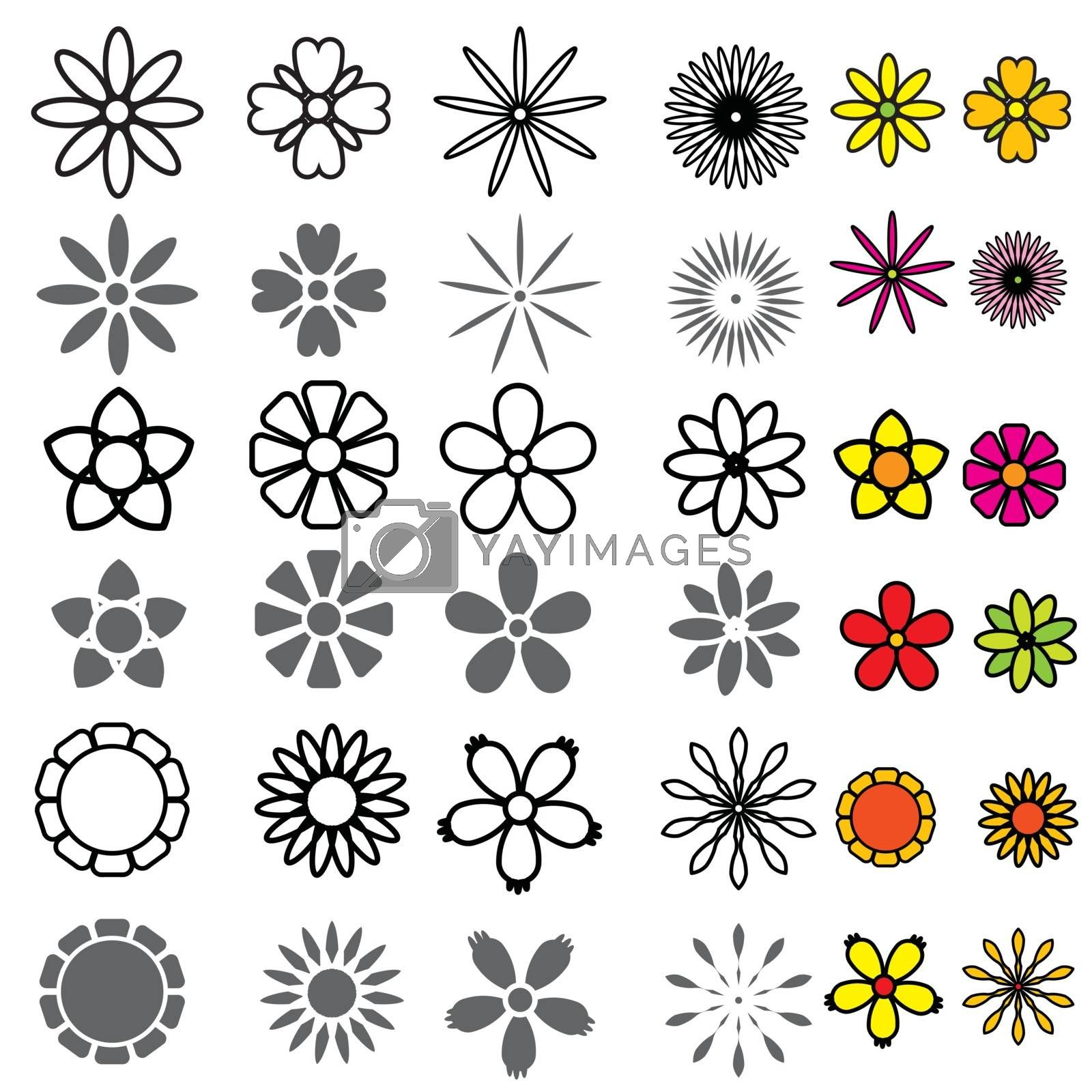 Royalty free image of Flower Icons Set vector by attaphong