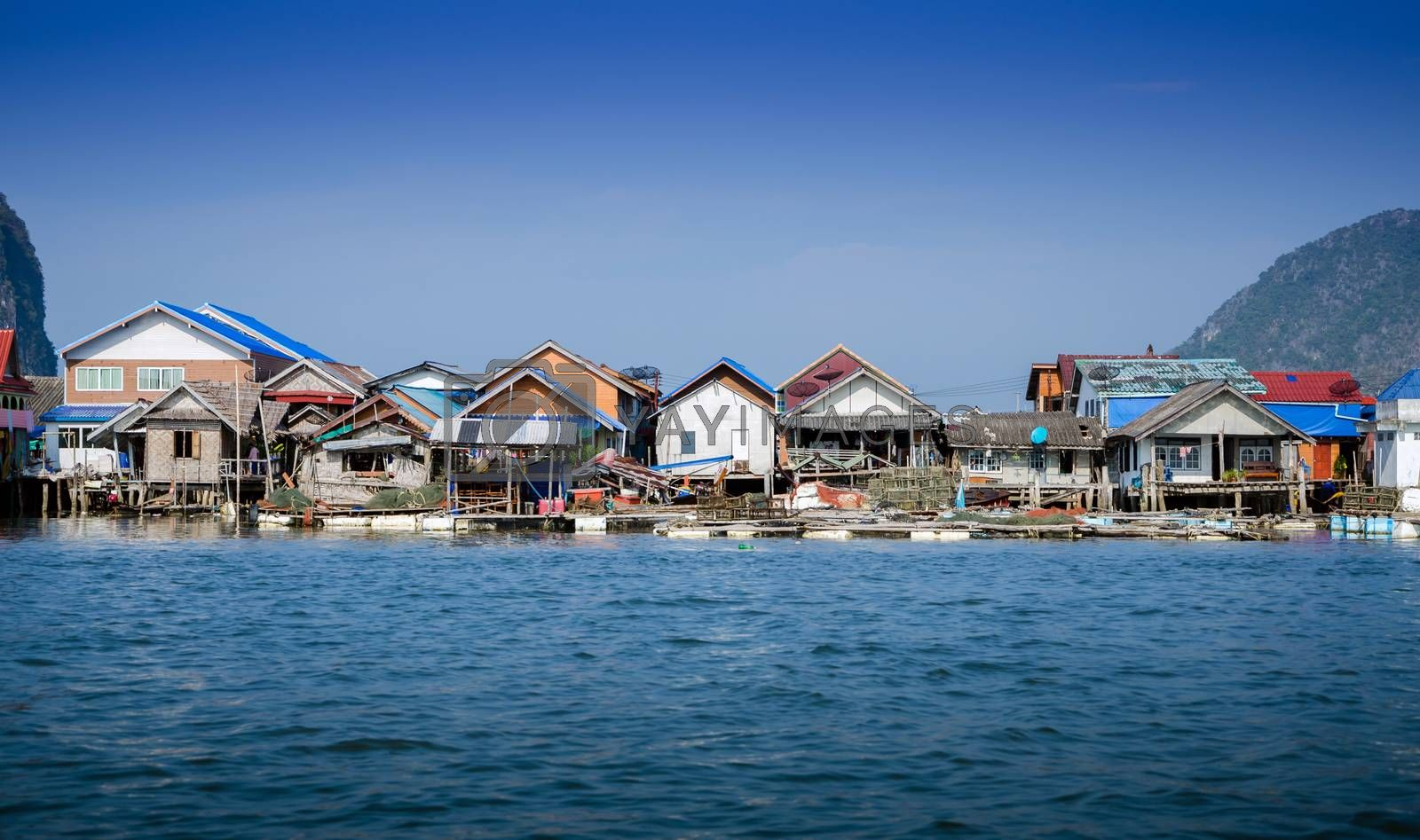 Royalty free image of Muslim floating village at Panyee island by siraanamwong