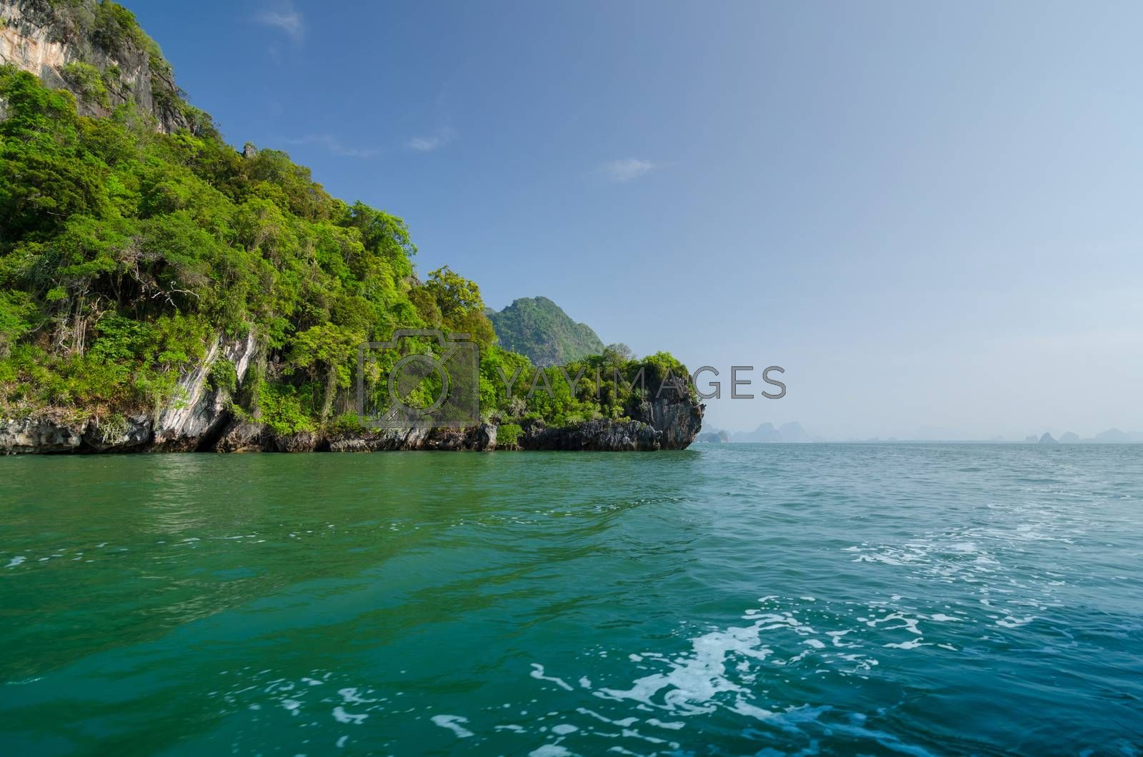 Royalty free image of Island of Phang Nga National Park in Thailand  by siraanamwong