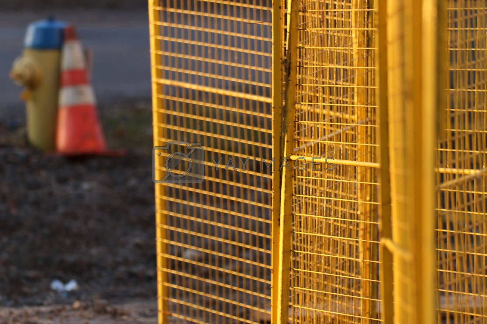 Royalty free image of Temporary fence Panels for construction site1 by iglooo101