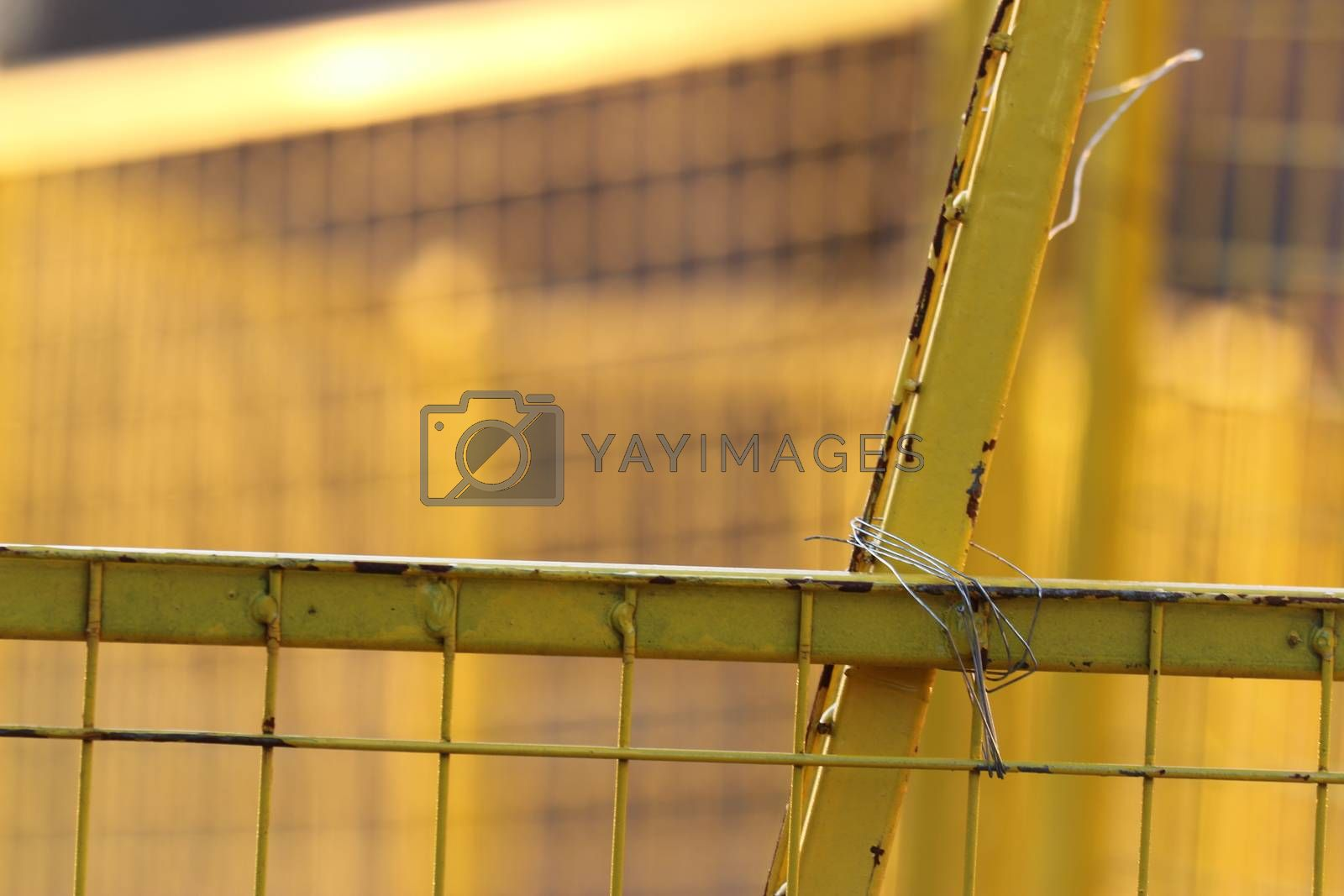 Royalty free image of Temporary fence Panels for construction site7 by iglooo101