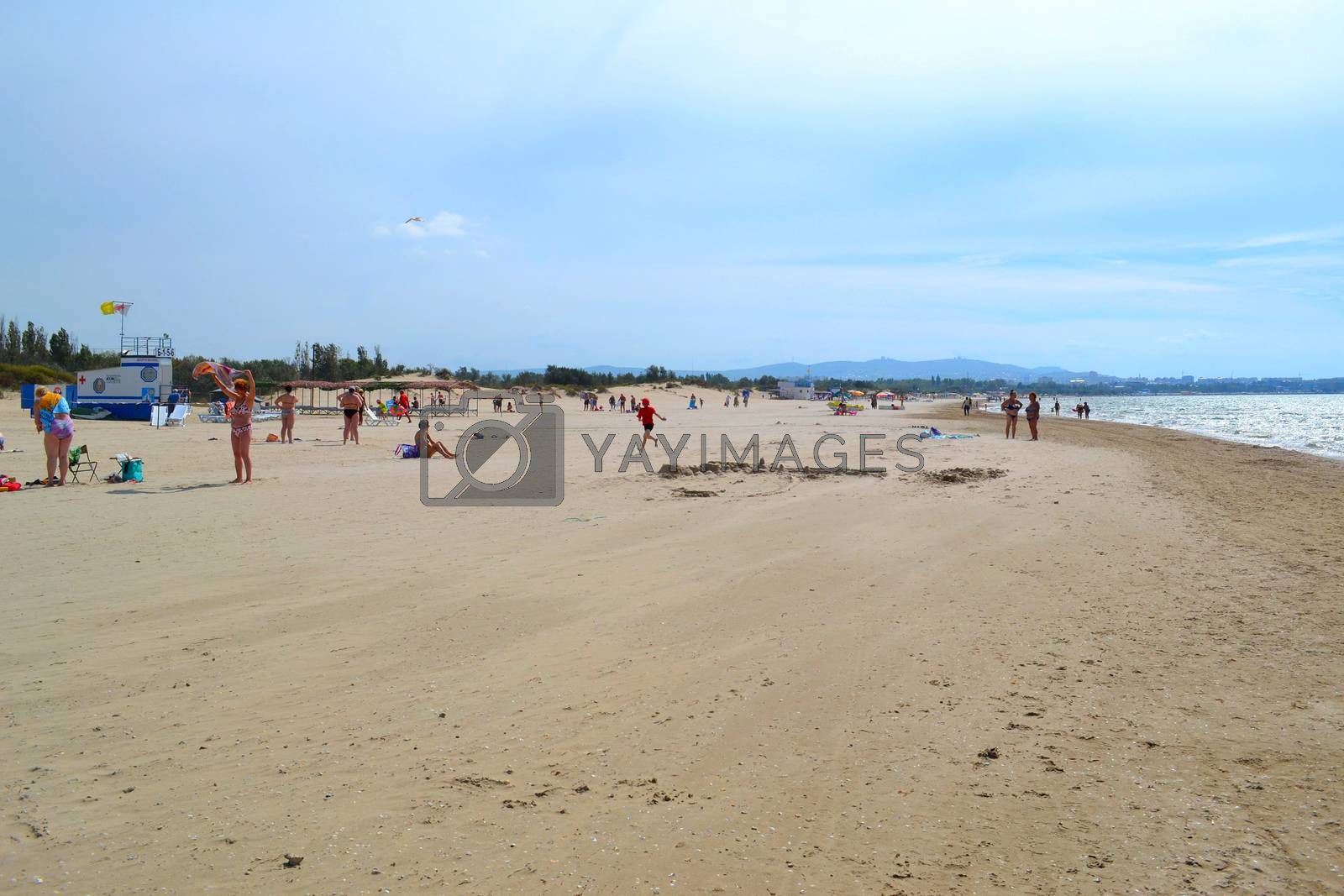 Royalty free image of Beach in Dzhemeta overlooking Anapa. by veronka72