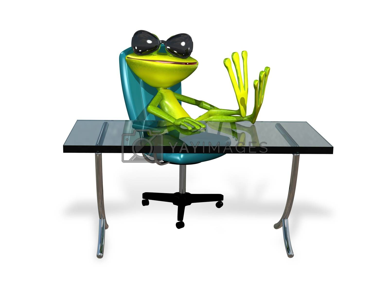 Royalty free image of Frog at the table by brux